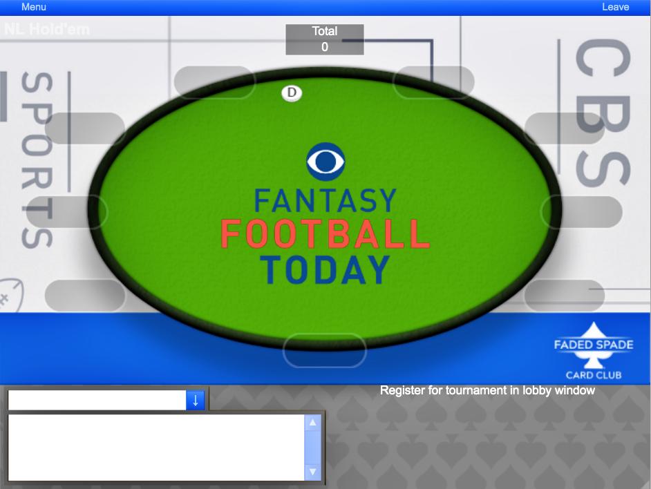 cbs sports faded spade cards poker fantasy football today