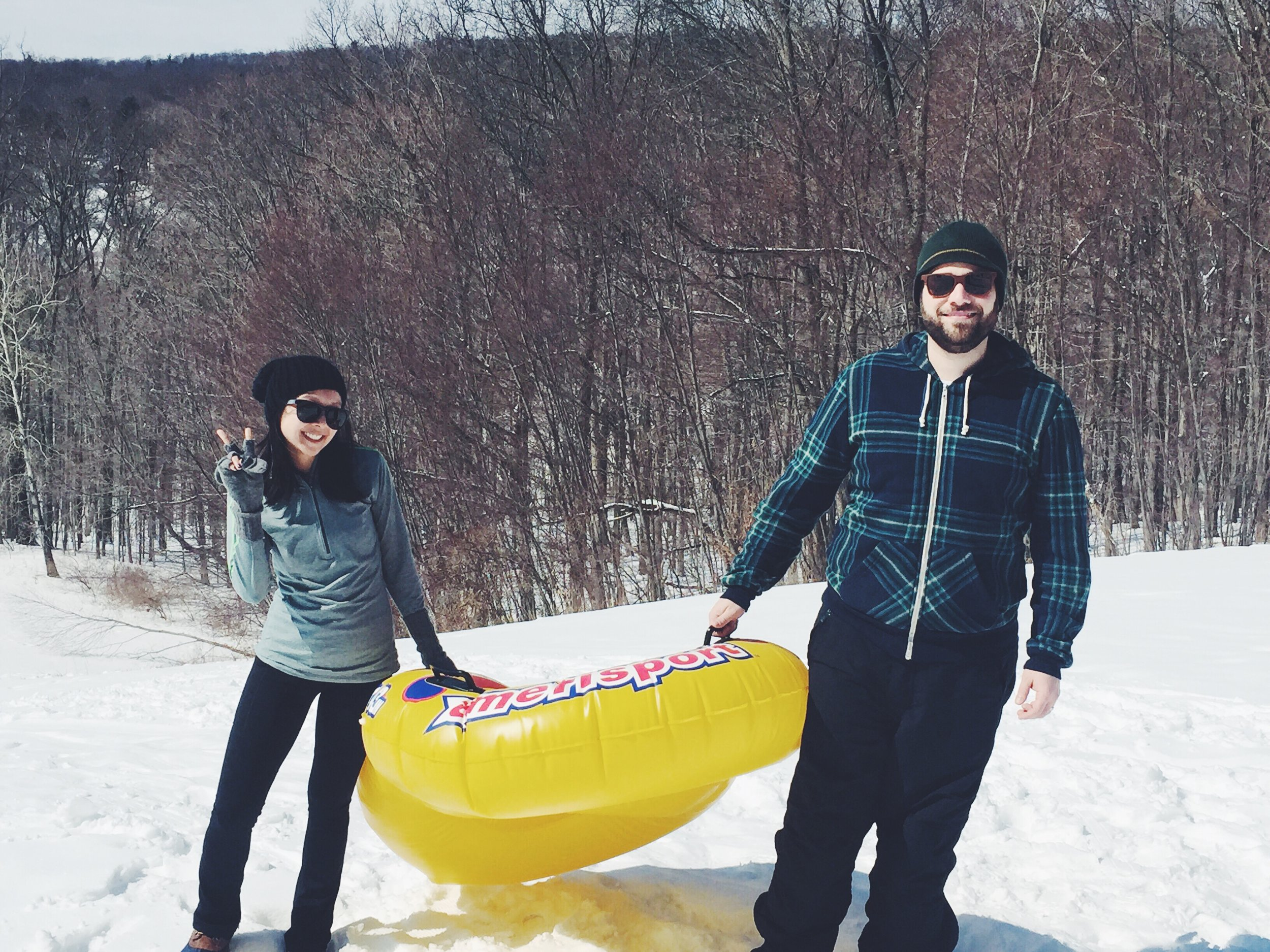 We went sledding! I forgot how much fun it is and don't recall the last time I went.