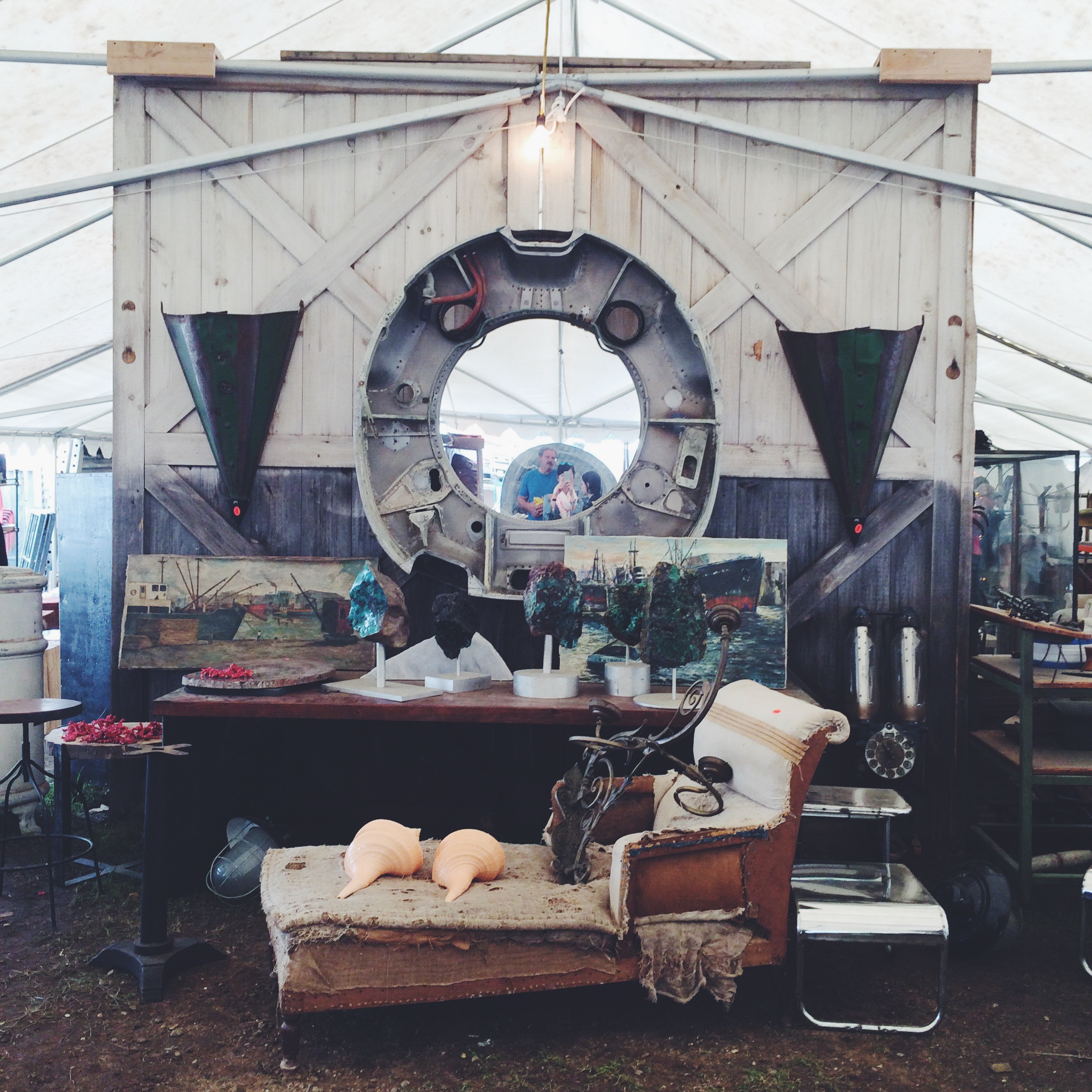 I loved the nautical and vintage-y feel of this staged section!