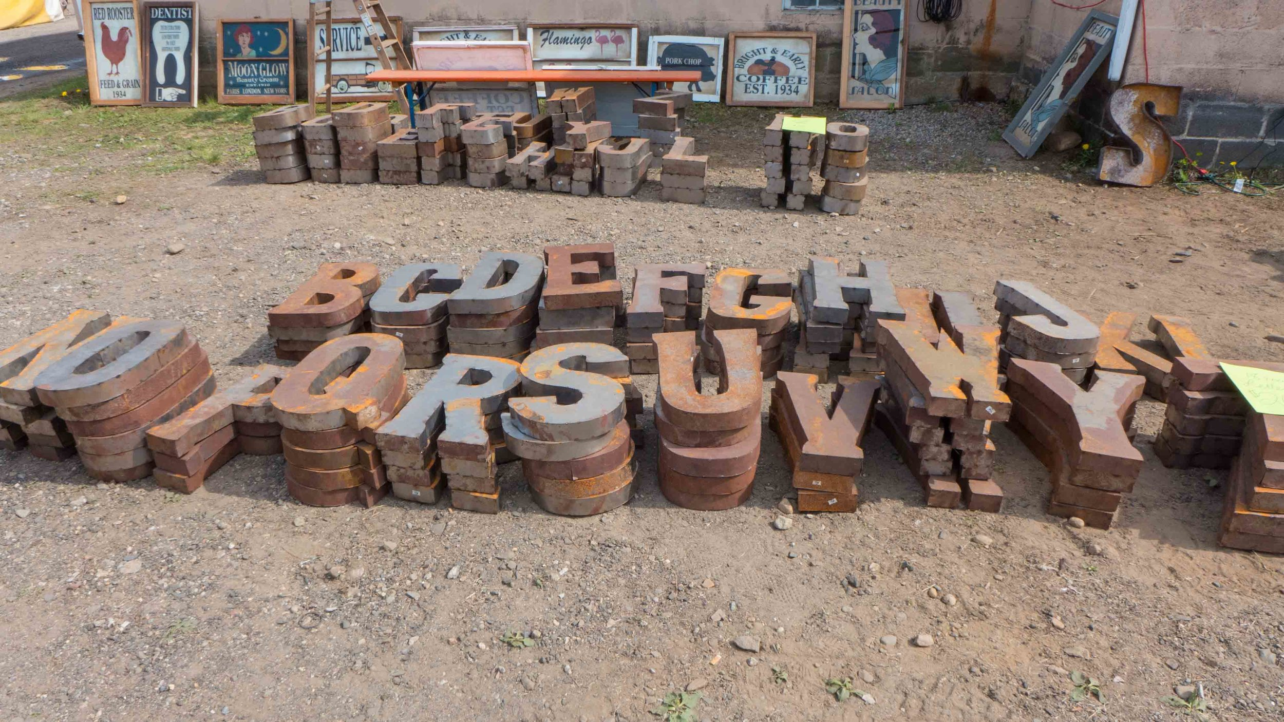 """The letters grave yard. Picked up an """"R"""" for my gallery wall."""