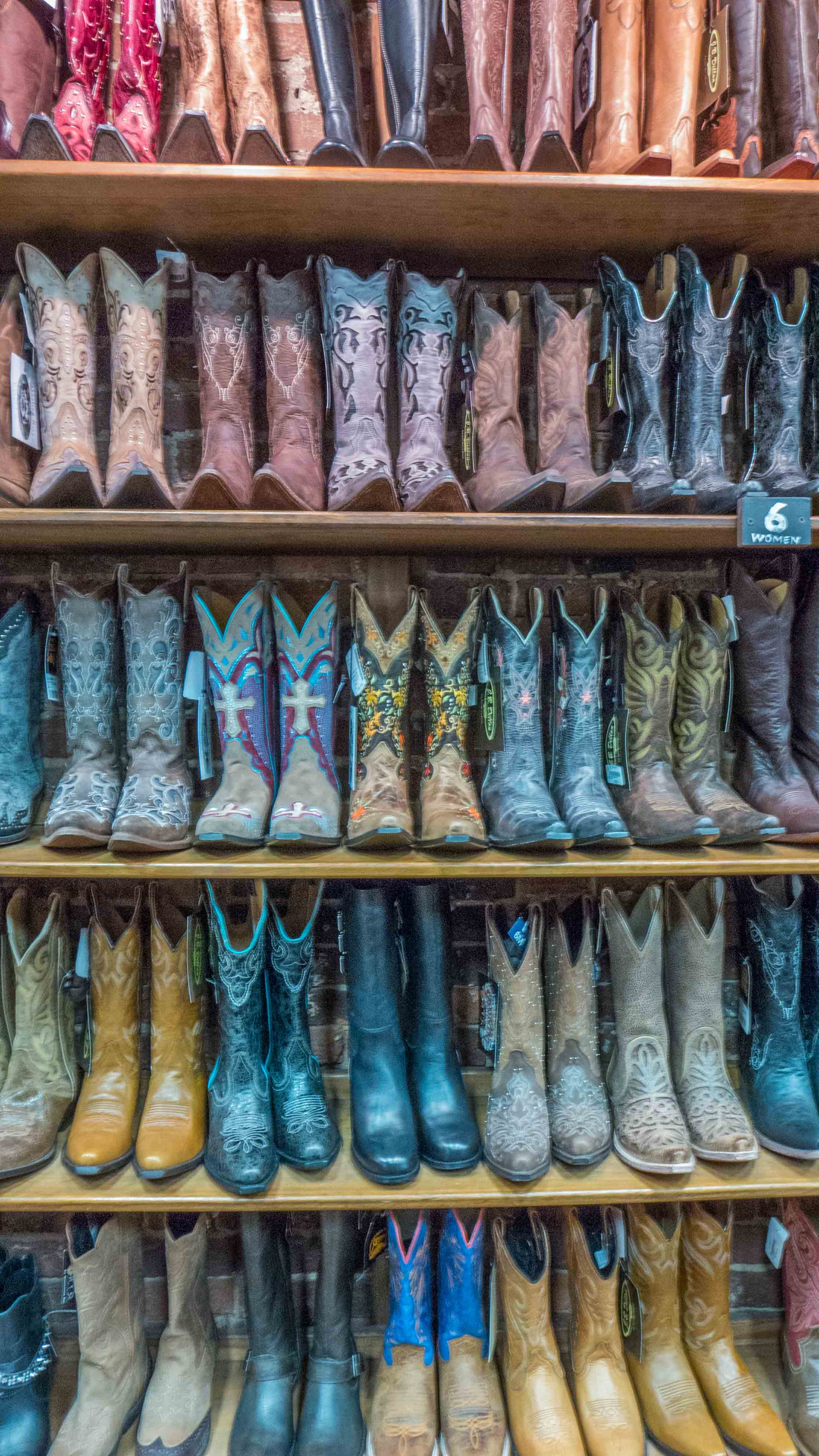 First order of business: buy cowboy boots. Let me tell you, there is no shortage of boots here! I decided to go with a low key pair (seen in previous pic to the far right) from  Boot Country .