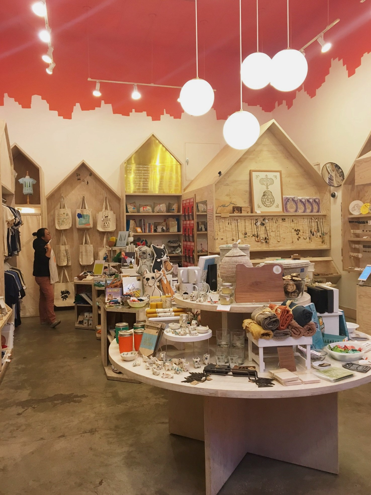 Another shop we visited was  Tender Loving Empire . It's yet another store that focuses on handmade goods (are you spotting a trend here?). It's a very happy and whimsical store filled with all sorts of knick knacks. We picked up a sweet little gift for our friends' newborn.