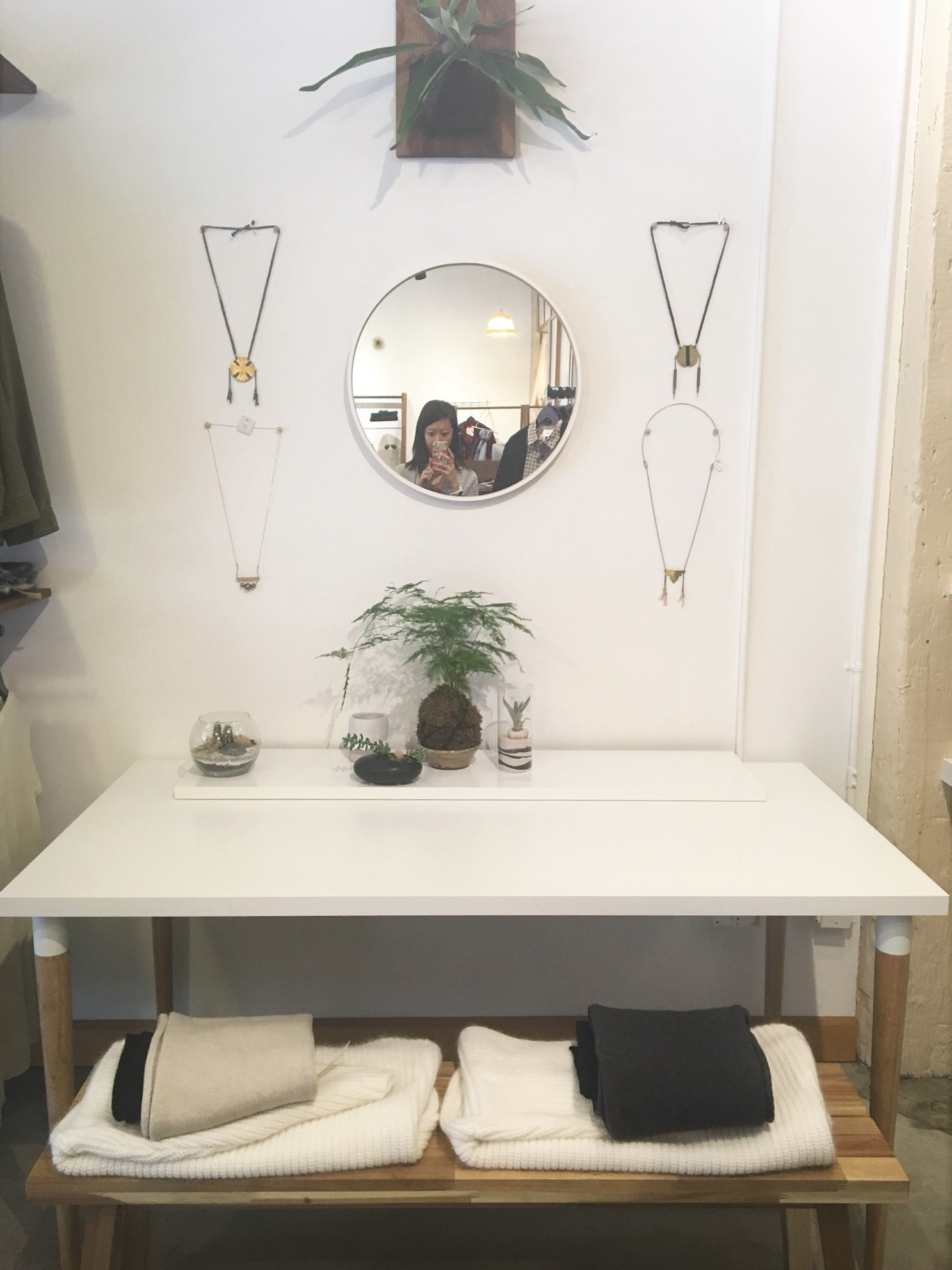 I stopped into  Vintalier  because I loved the store's aesthetic - clean lines and simple decor. The store has a mix of vintage and modern clothing so the price points range from low to high.