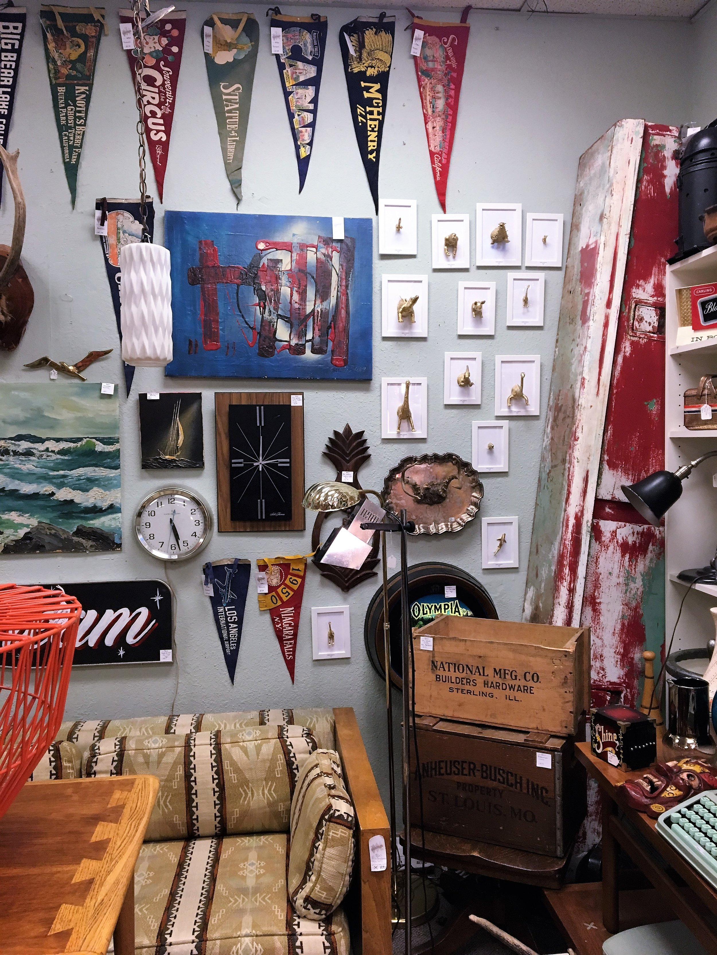 We took a stroll through the  Freemont Vintage Mall . Although we didn't walk away with anything, I love browsing and seeing what kind of knick knacks are out there. If you like vintage, this store is up your alley.