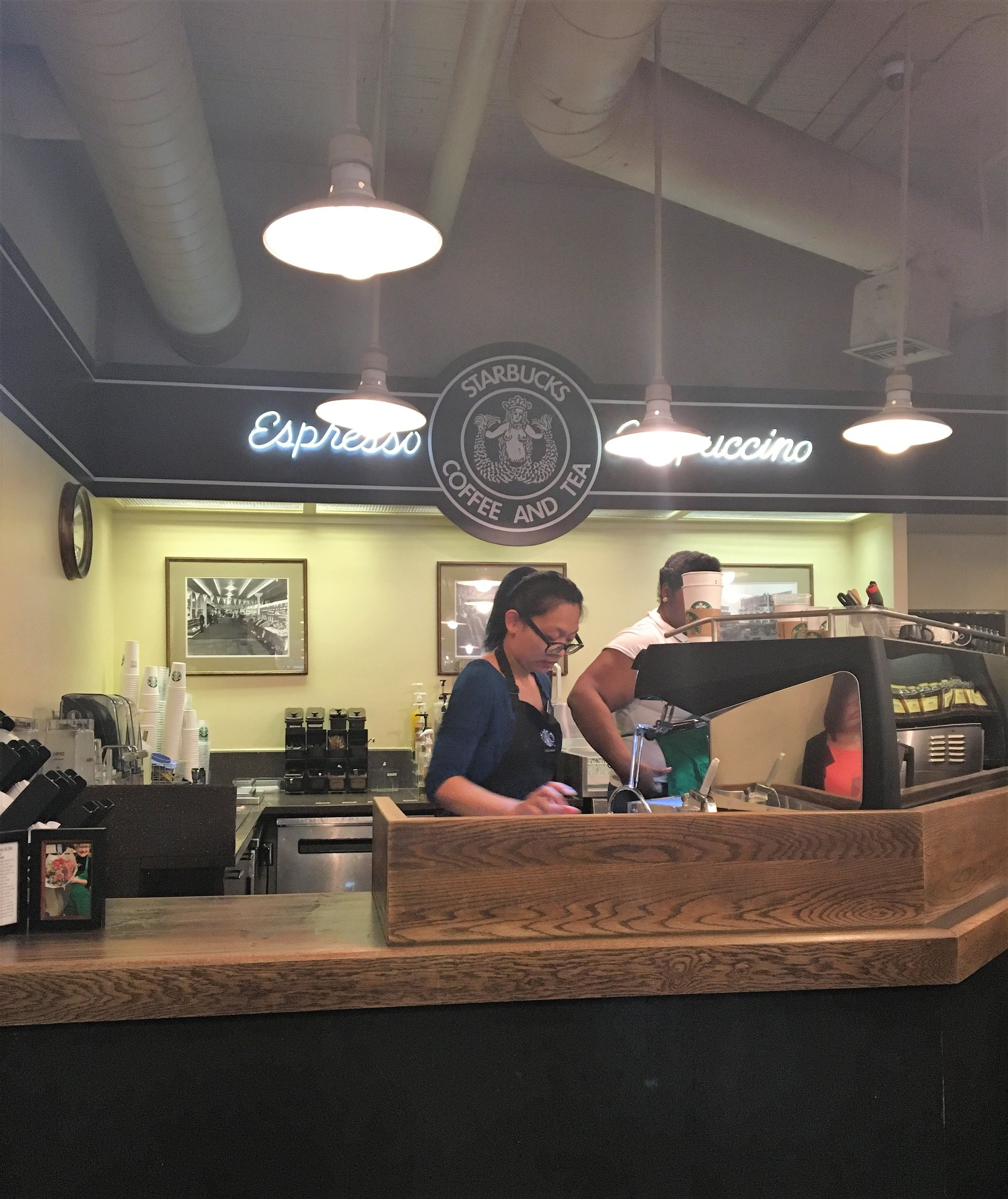 FOUND IT. The original Starbucks for our morning cup of joe!