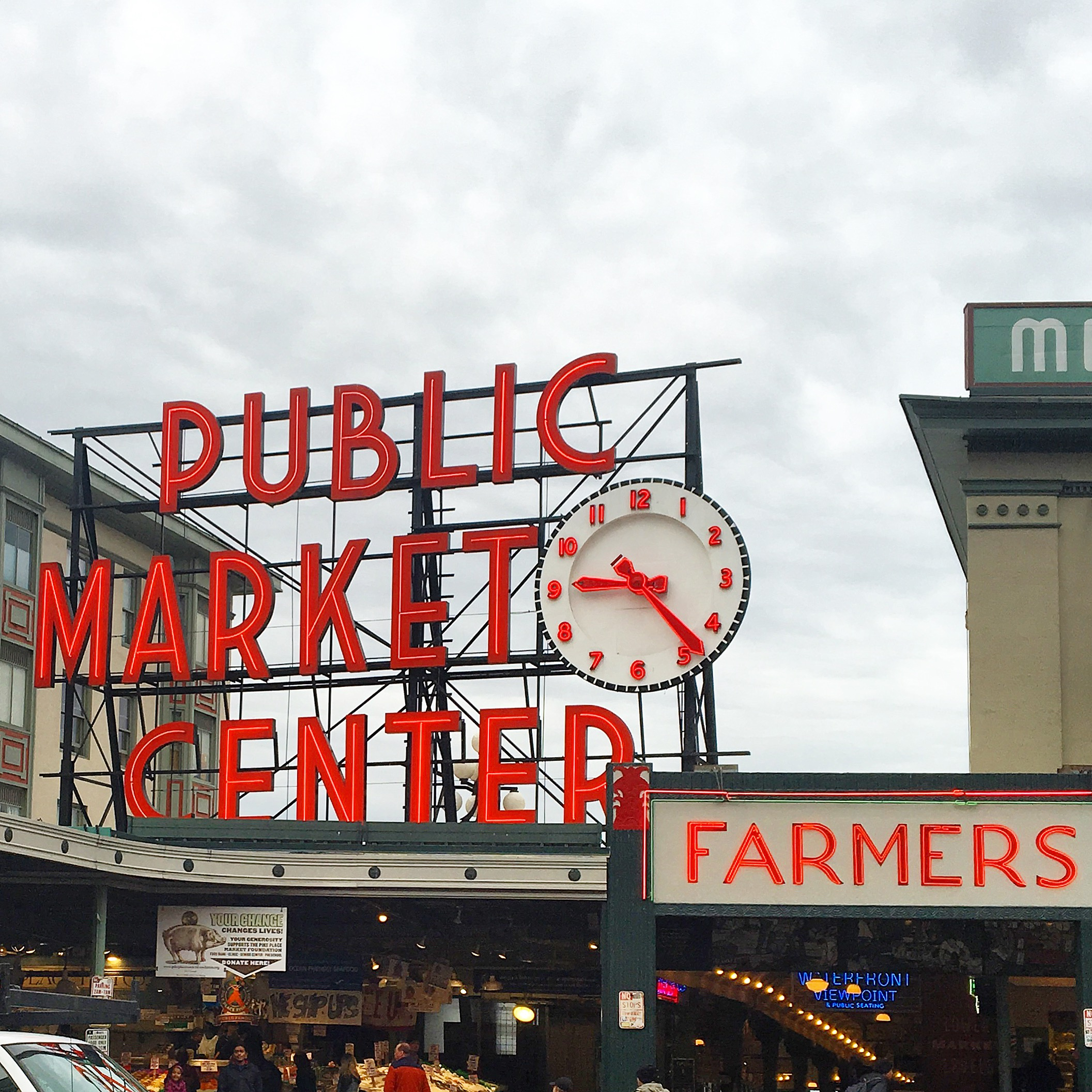 Ah, yes. The infamous  Pike Place Market . We took a few laps to make sure we caught a glimpse of the guys throwing around a few fish and belting out tunes.