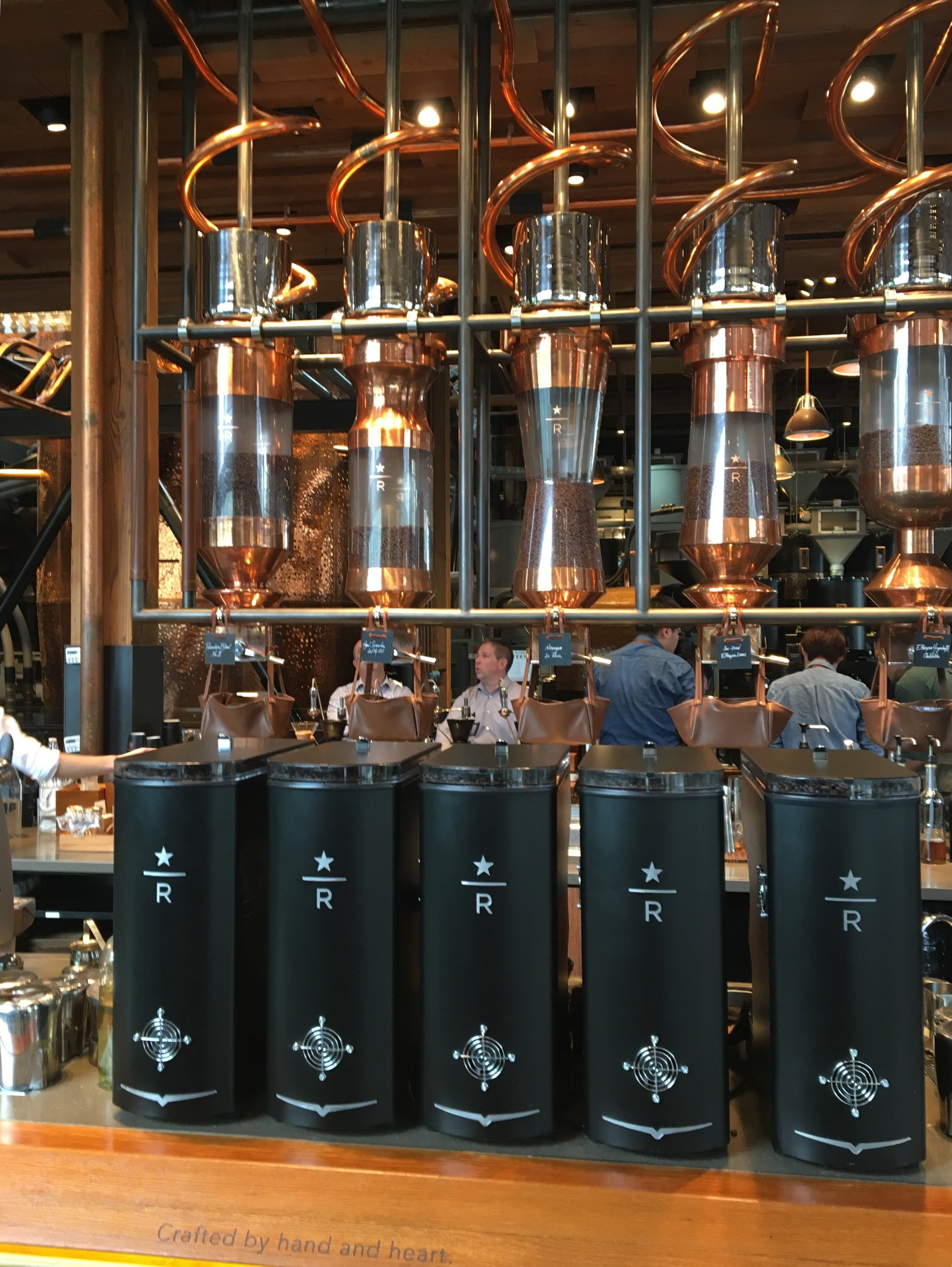 On top of finding the original Starbucks, we also stopped by the  Starbucks Reserve Roastery & Tasting room . It's the only one in the US at the moment. This was quite an experience. There was loud music playing (I felt like I was at club), everything was rose gold and the whole place was just buzzing. I ordered an affogato and Dan a latte that had hints of butterscotch and pepper, if I recall correctly. It only cost us a cool $20...