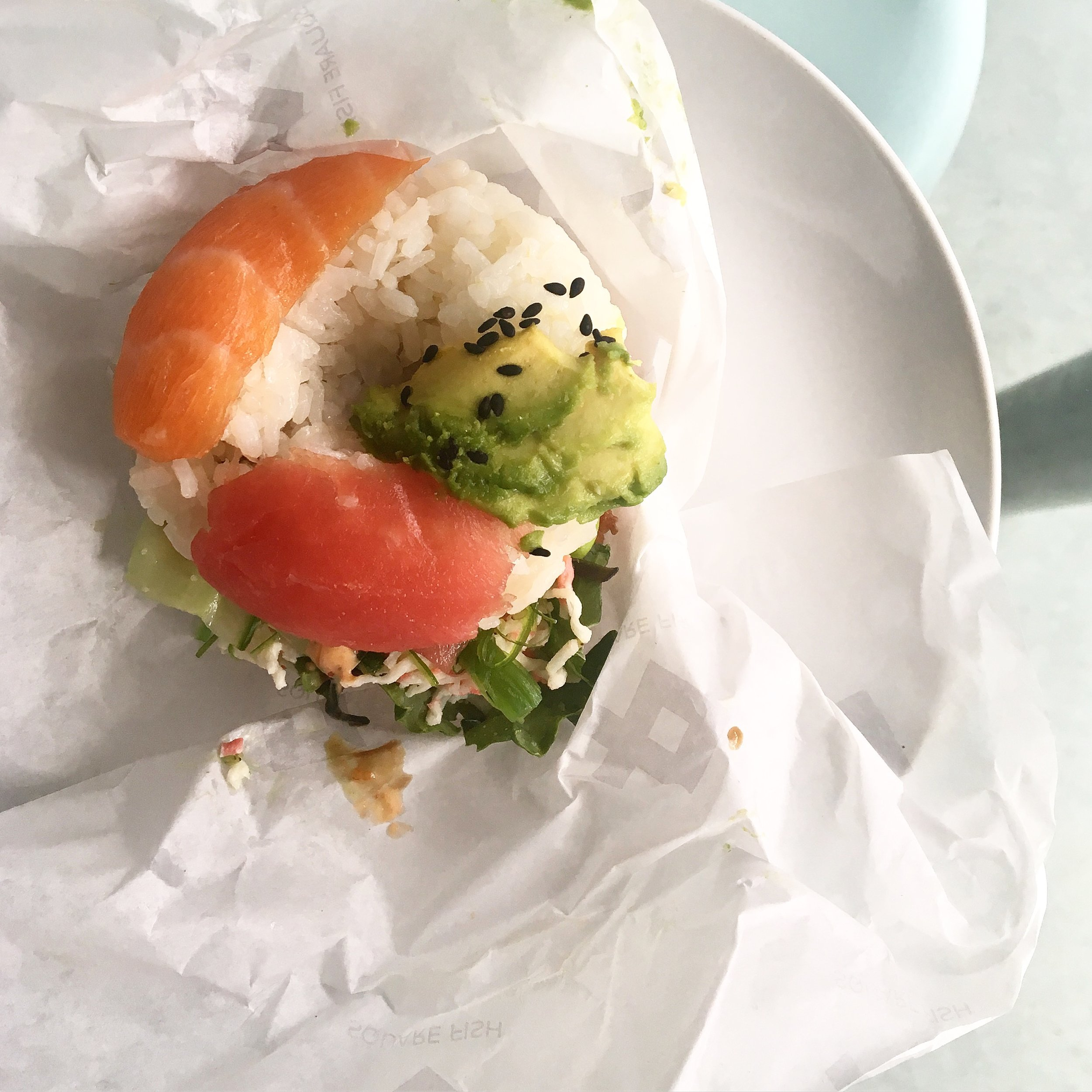 I finally had a sushi donut from  Square Fish , which was in walking distance from our Air BNB. They used high quality ingredients and was the perfect pre-dinner snack (I split one with Dan). I'm on board with this sushi trend.