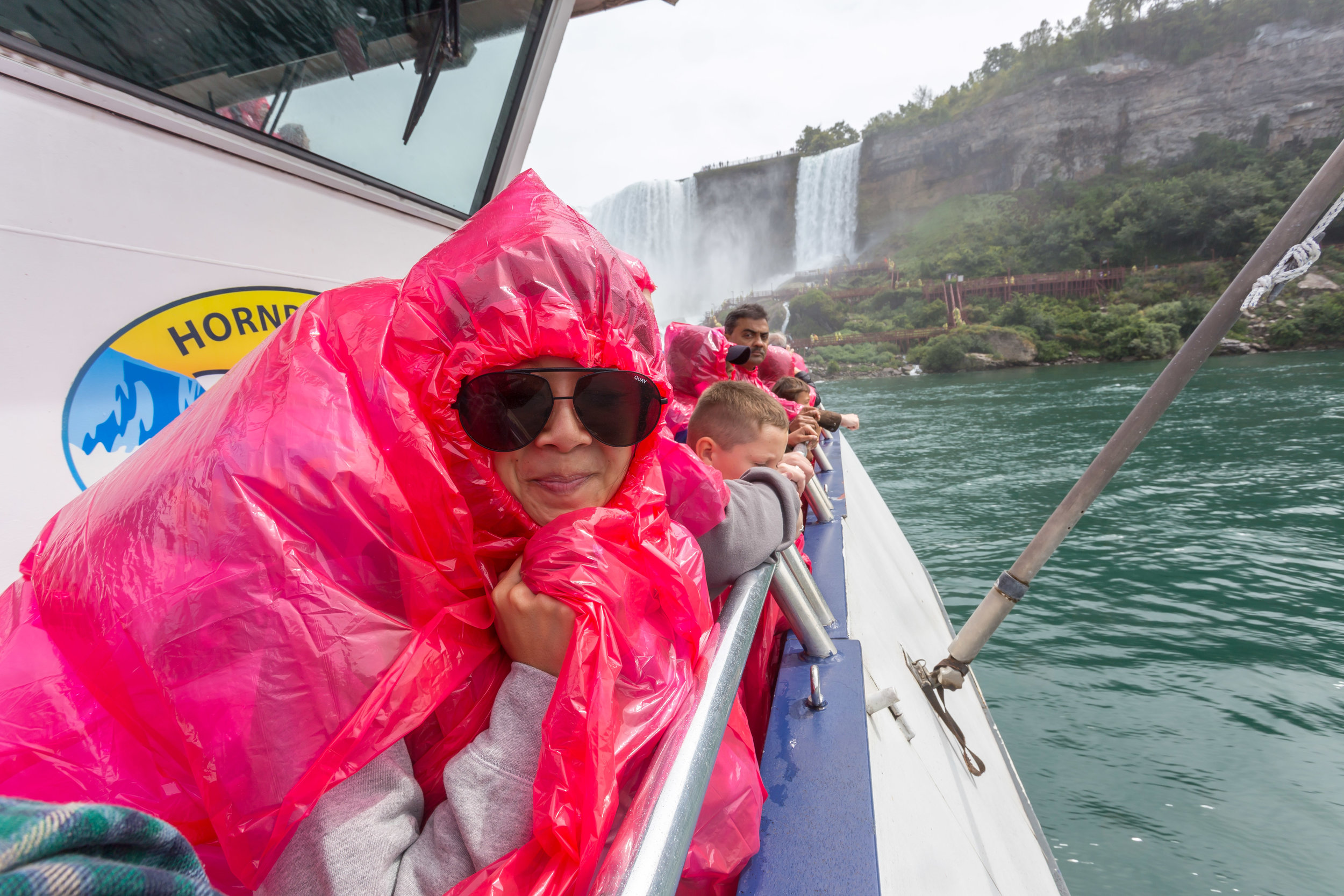 Here I am sporting the oh so fashionable poncho. Not sure if it really did much!