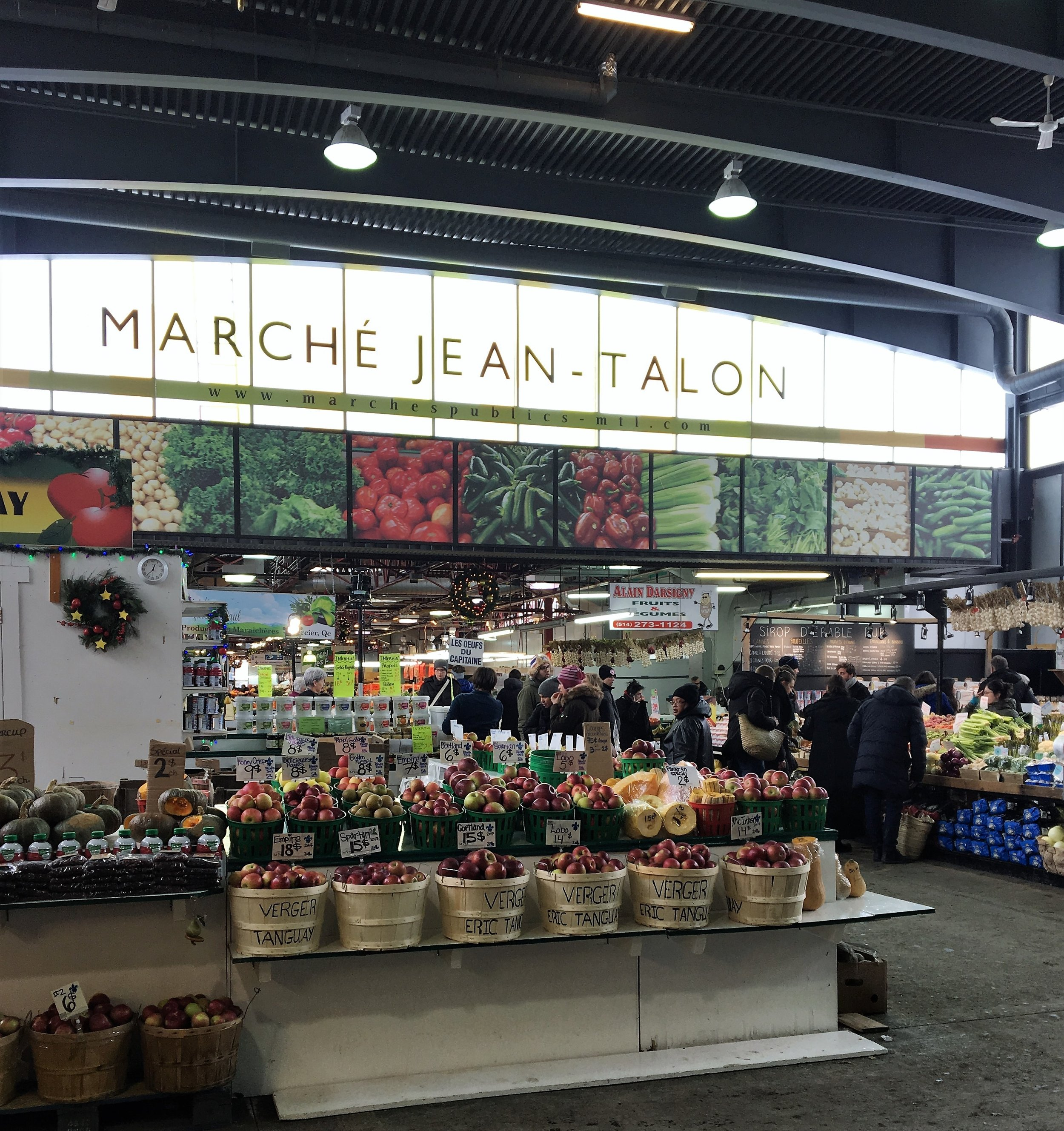 An indoor activity we partook in was a visit to the  Jean-Talon Market , an indoor public market in Little Italy. It is one of the oldest public markets in Montreal. Whenever I visit markets like this in other cities, I wish there were more in Boston. We stopped by a few stalls to try out some snacks and made some small purchases to bring back home.