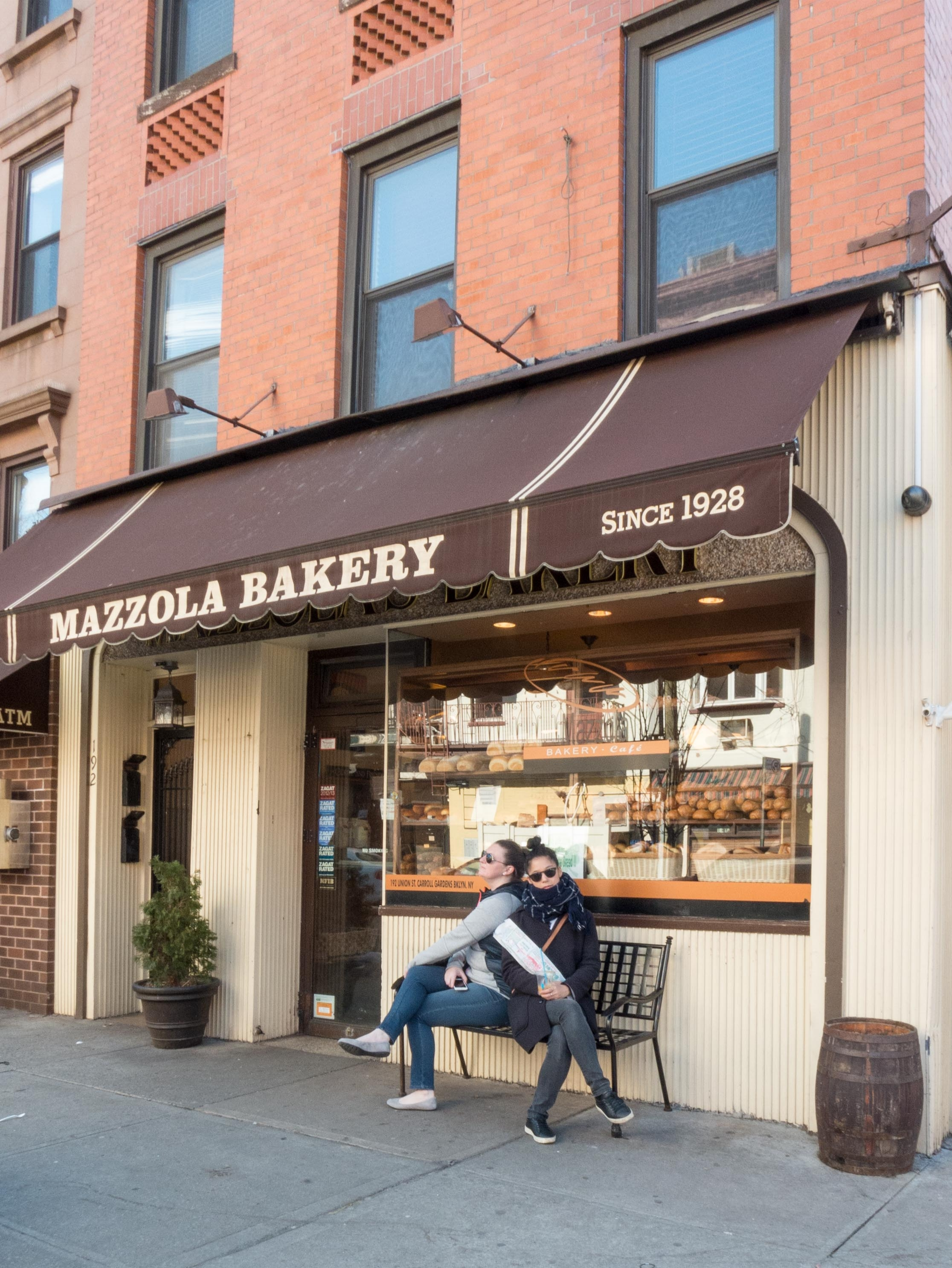After strolling around for a bit, we needed a snack. Steph said it was a must that we stop by  Mazzola Bakery  for lard bread. What is lard bread you ask? It's a loaf of bread with pieces of cheese and ham baked inside. It's heaven.