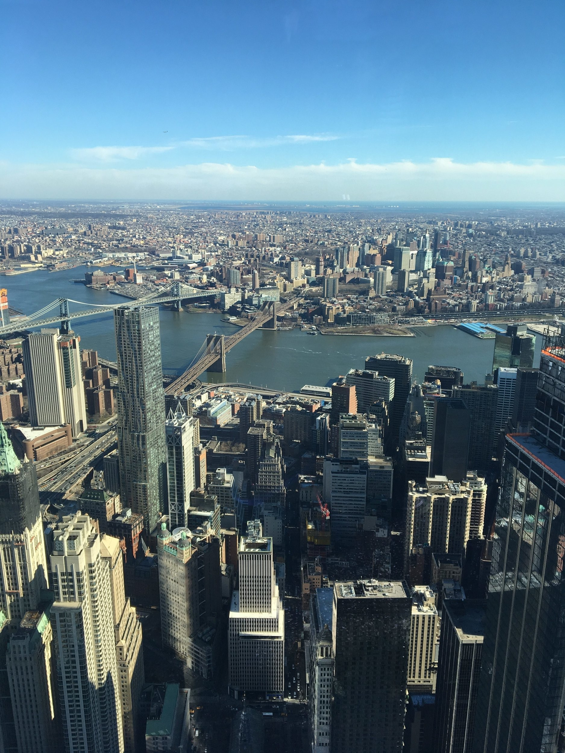 The ride up the elevator and the views from the observatory was amazing. I wasn't sure what to expect but I would recommend this to any visitor. Oh hey there, NYC!