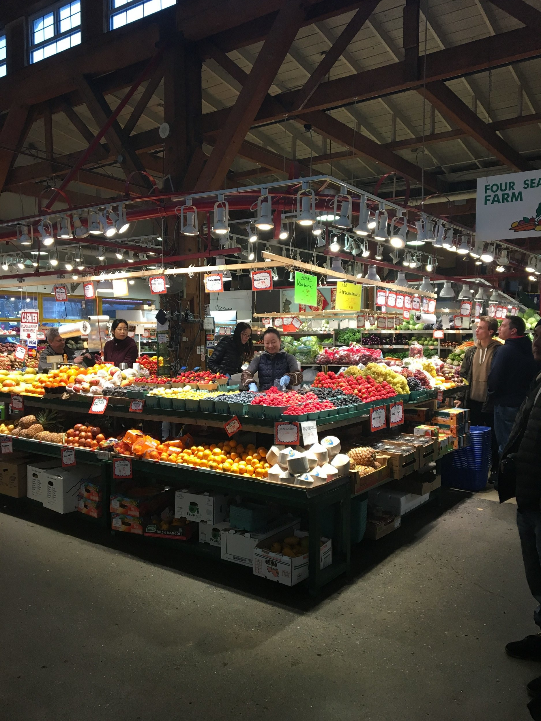 The Granville Island Public Market  is filled with stalls upon stalls of food, homemade products and all sorts of goodness. While there, it was so hard to decide what we wanted to eat! There are also plenty of little shops featuring accessories, clothing, home decor and more!
