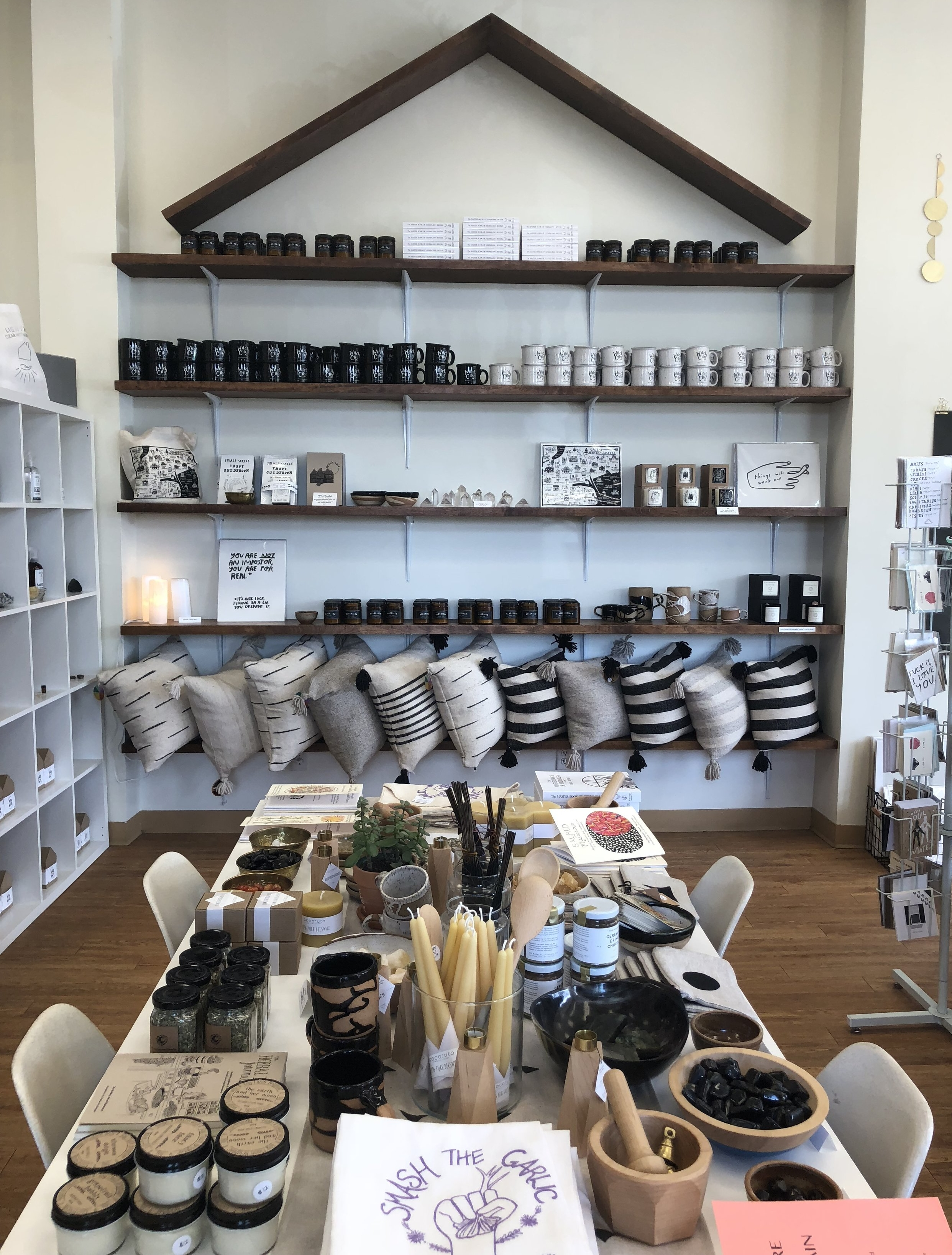 Following our tour, a few of the ladies and I decided to walk around Salem. One of the shops we popped into was  Haus Witch . The store carries handmade products from independent makers around the US. There's great smelling candles, housewares and other cute knick knacks.