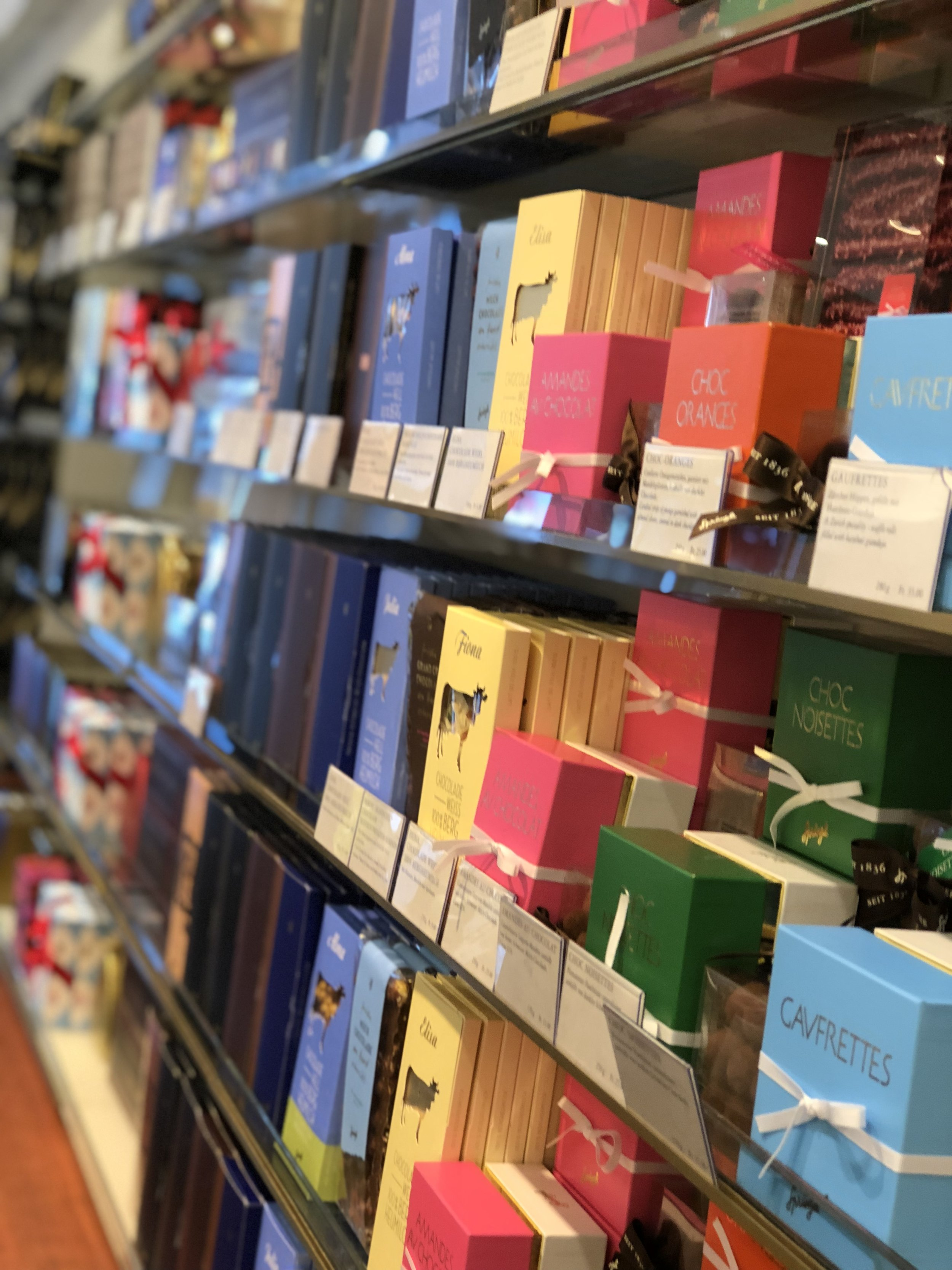 Since Dan has a major sweet tooth and the Swiss are known for their chocolates, we stopped by a ton of chocolate shops. One of them being  Confiserie Sprungli . So much to choose from and we walked out with a small bag of an assortment of truffles.