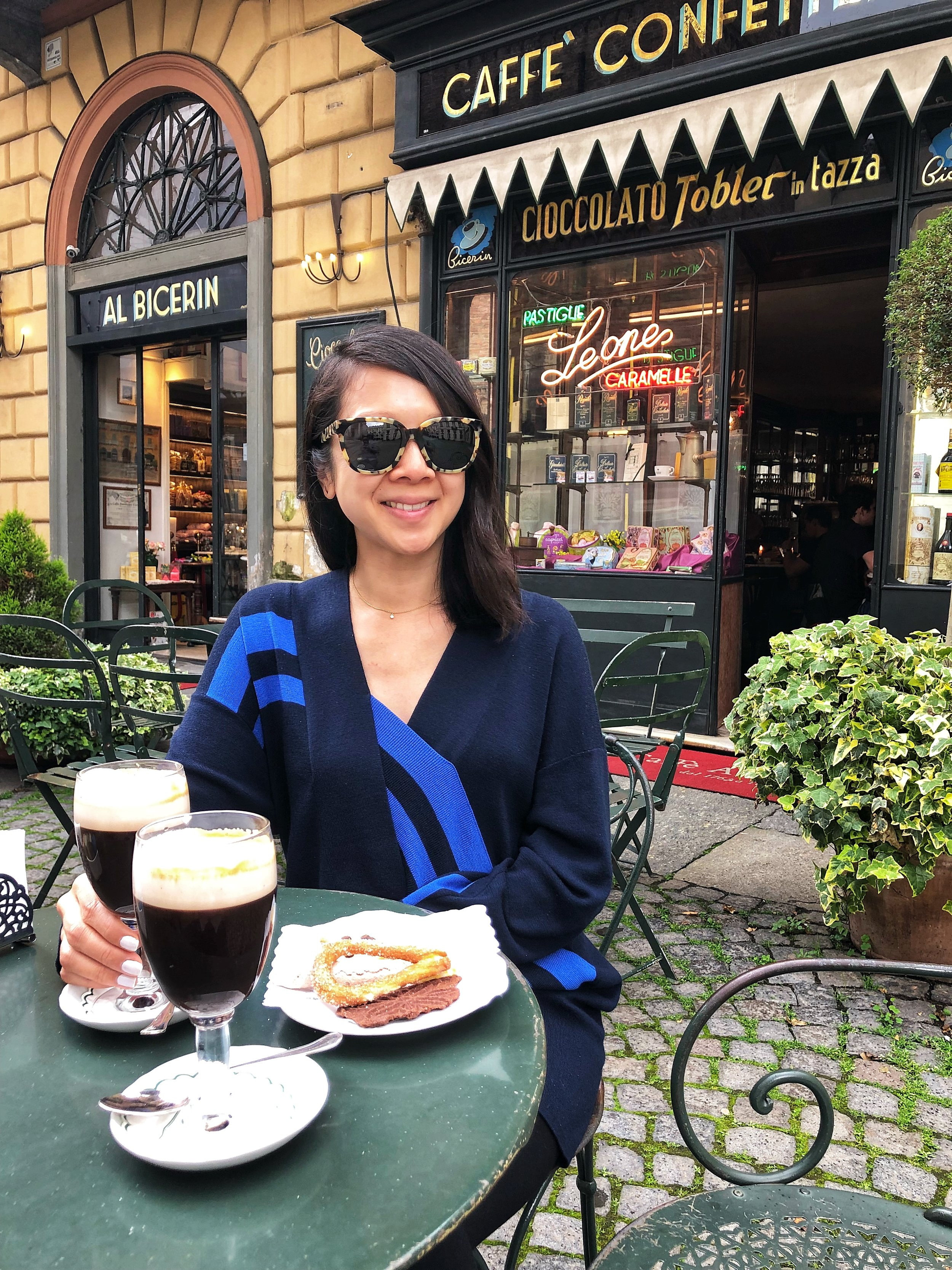 One of my favorite spots was  Caffe Al Bicerin , another Dan find. This cafe is known for its bicerin - a typical hot drink of Torino made of coffee, chocolate and cream. It was delicious!! A must if you ever find yourself in Torino. This picture was taken right before it started to rain...