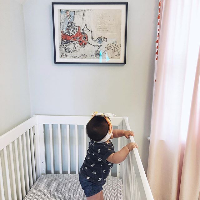 Finally filled the void by E's crib with a piece of Dr Seuss we picked up from our Cali trip at the @narrativegallerylaguna