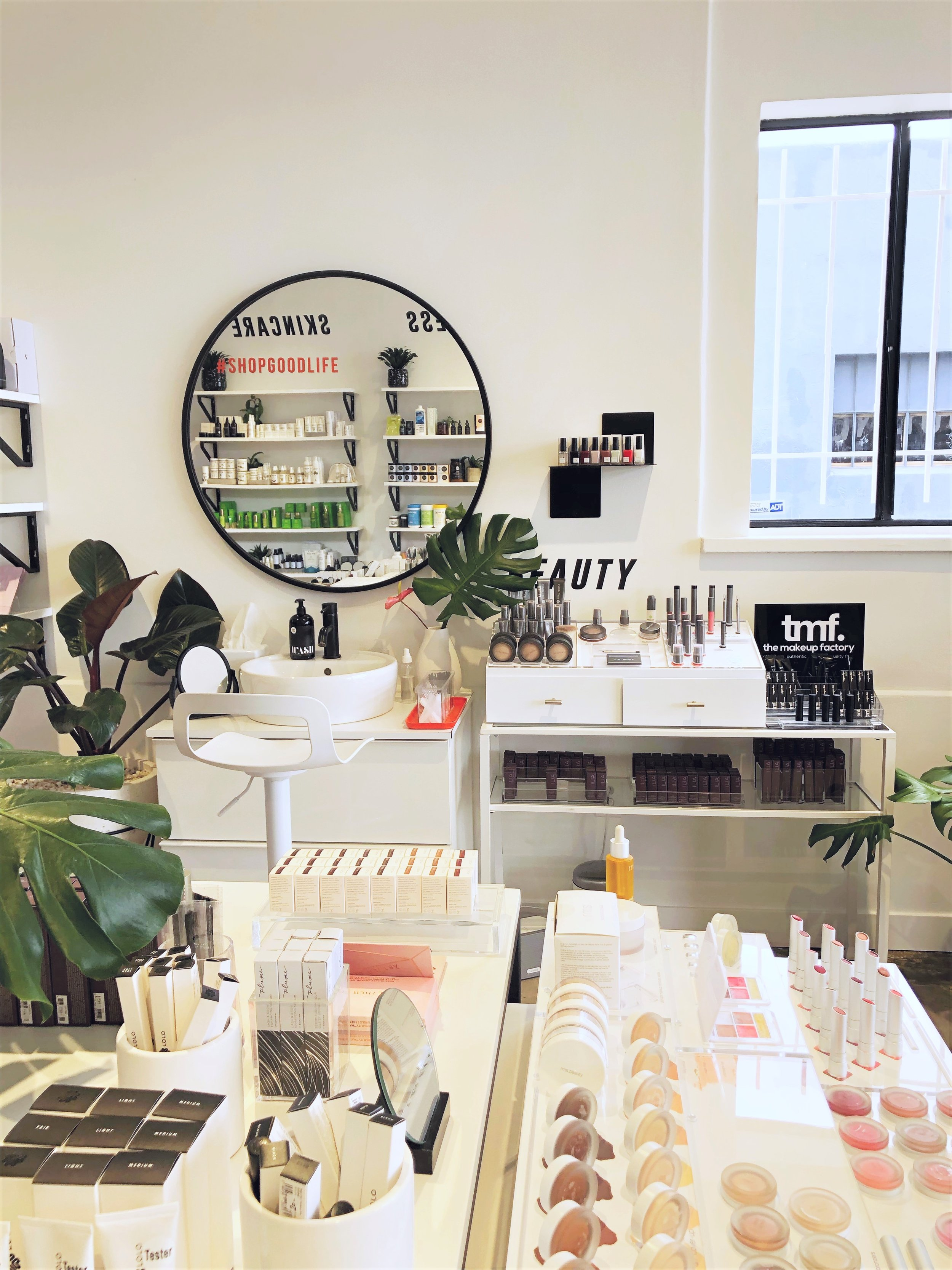 As I captioned in the picture that kicked off this post, I stopped by  Shop Good , a clean beauty store. The ladies who worked there was super nice and helpful. I didn't need to restock on anything in particular but did leave with that cute pink sweatshirt!