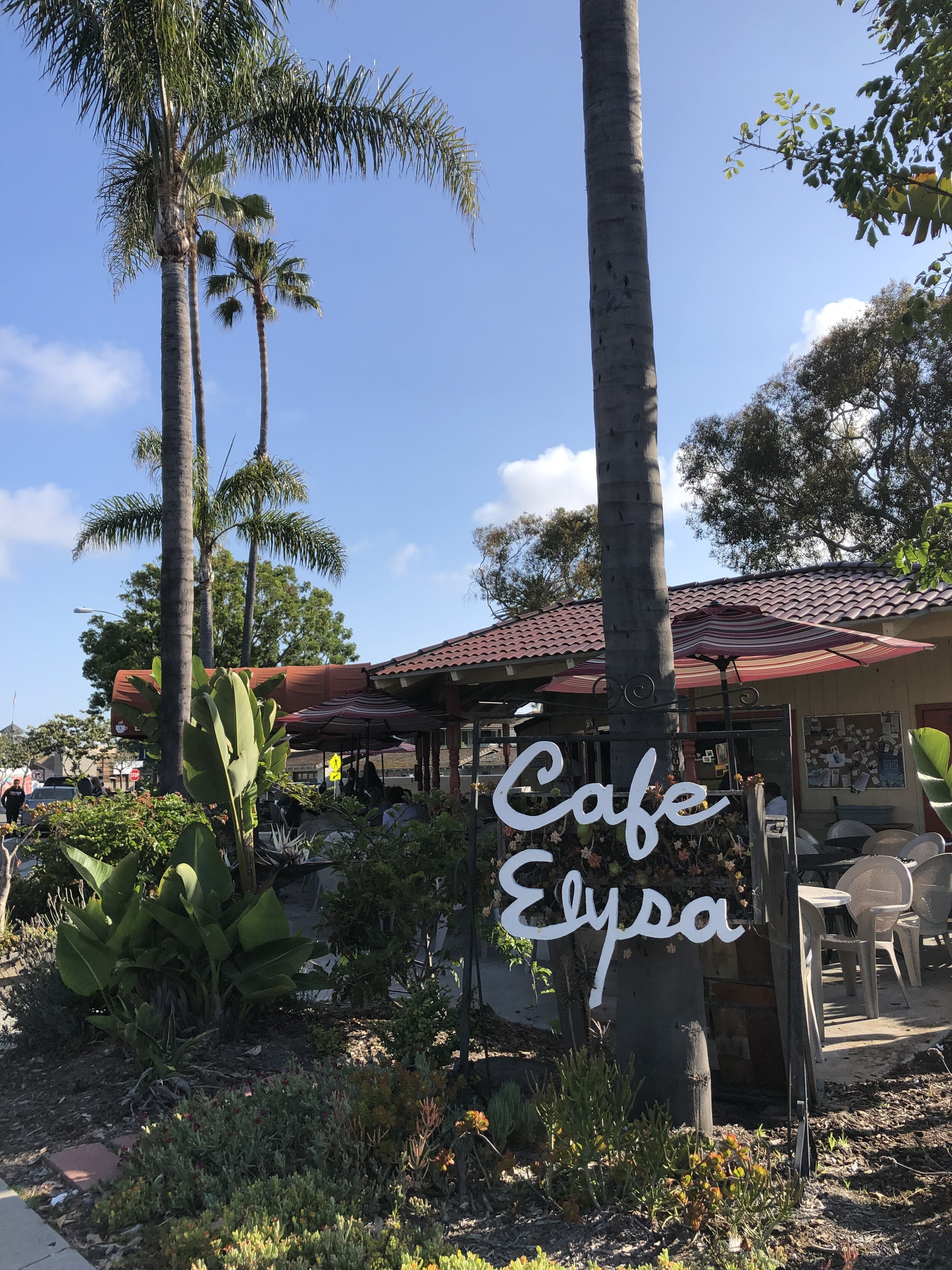 A quick walk from our home away from home was  Cafe Elysa . They had a ton of coffee flavors and simple, straightforward options for breakfast. The baked pastries all looked yummy, as well.