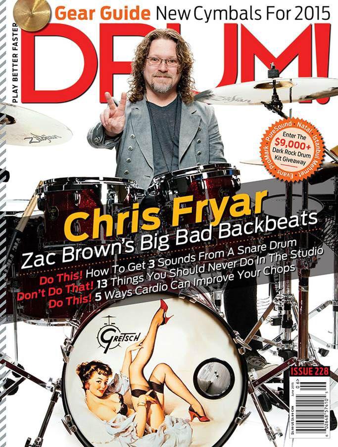 Chris Fryar for Drum! Magazine Cover