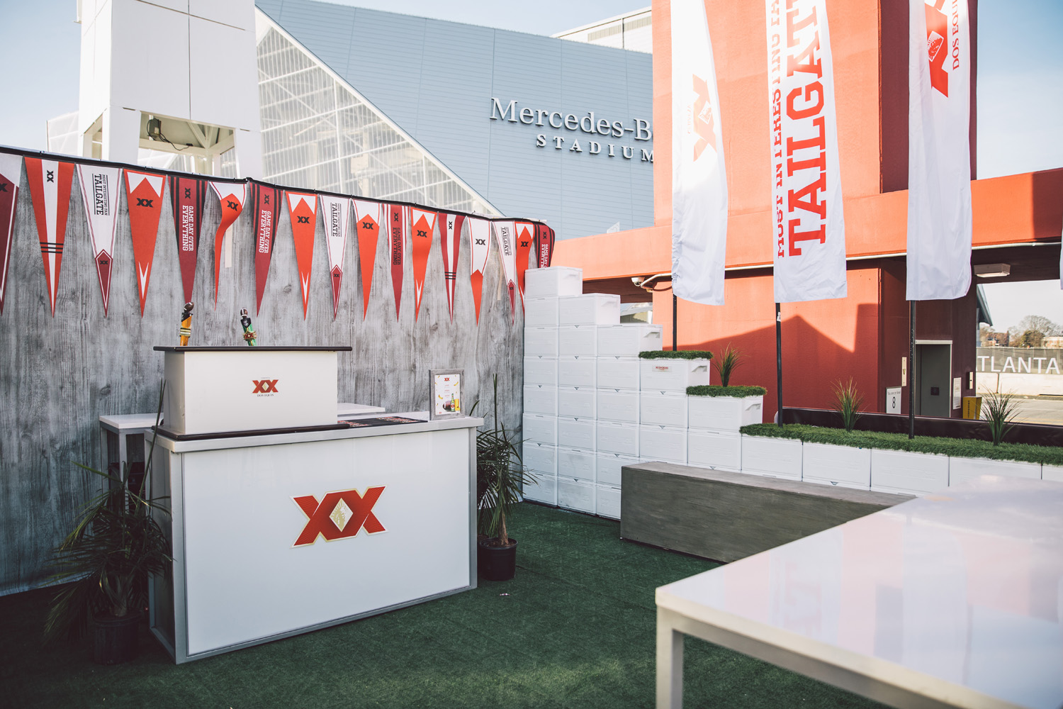 Dos Equis producing a VIP lounge during the SEC Championships for attending fans in Atlanta, GA