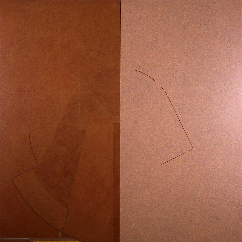 Janus III, 1986, Acrylic on canvas over panels, 72 x 72inches.