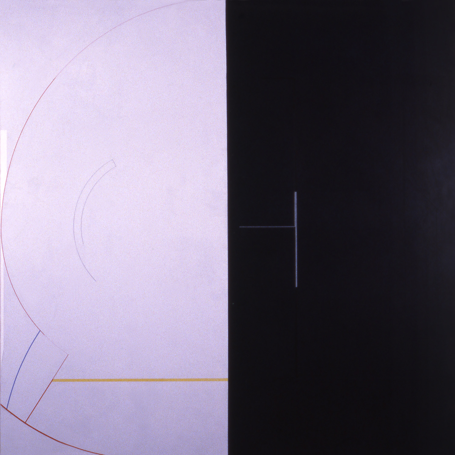Janus VI, 1986, Acrylic on canvas over panels, 72 x 72 inches.