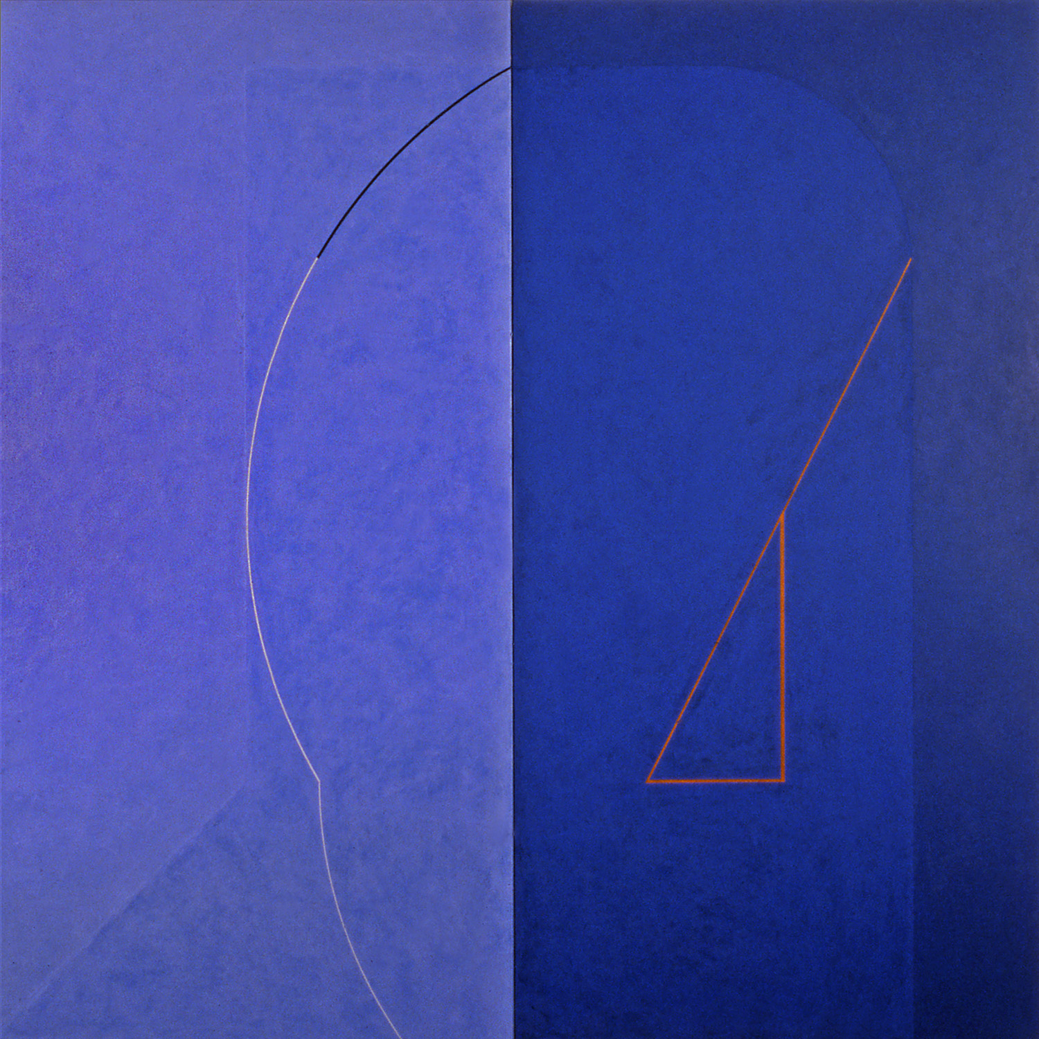 Janus VIII, 1986, Acrylic on canvas over panels, 72 x 72 inches.