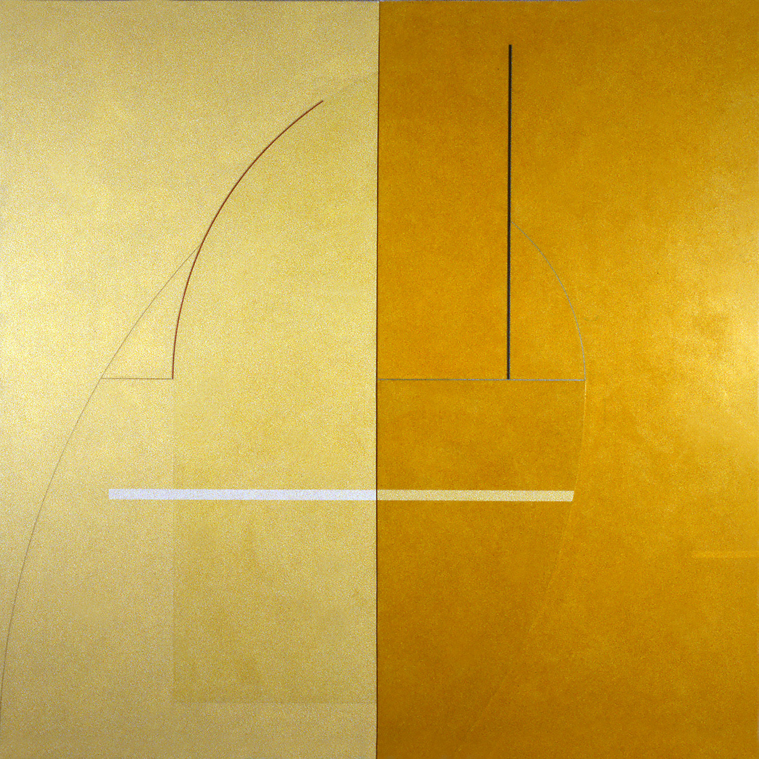 Janus X, 1986, Acrylic on canvas over panels, 72 x 72 inches.