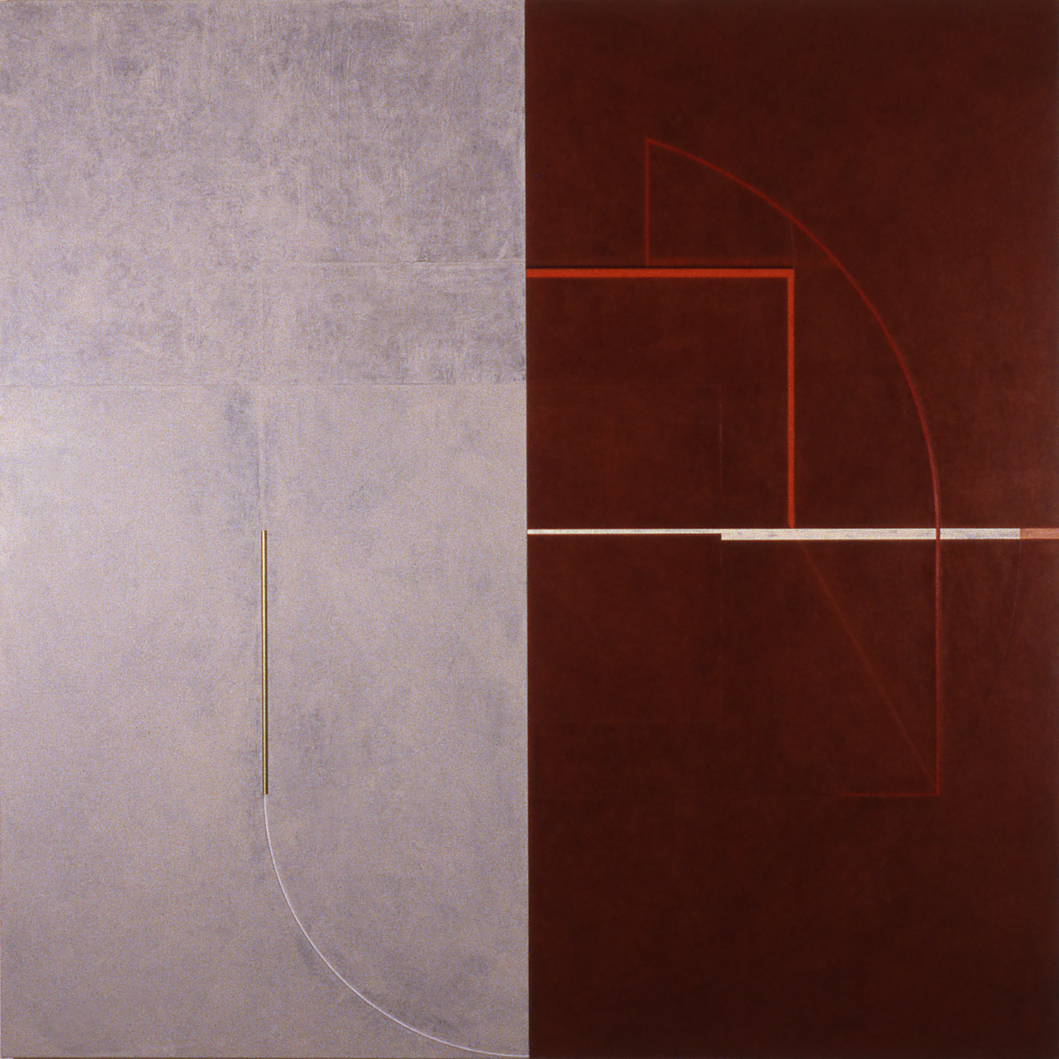 Janus XV, 1987, Acrylic on canvas over panels, 96 x 96 inches.