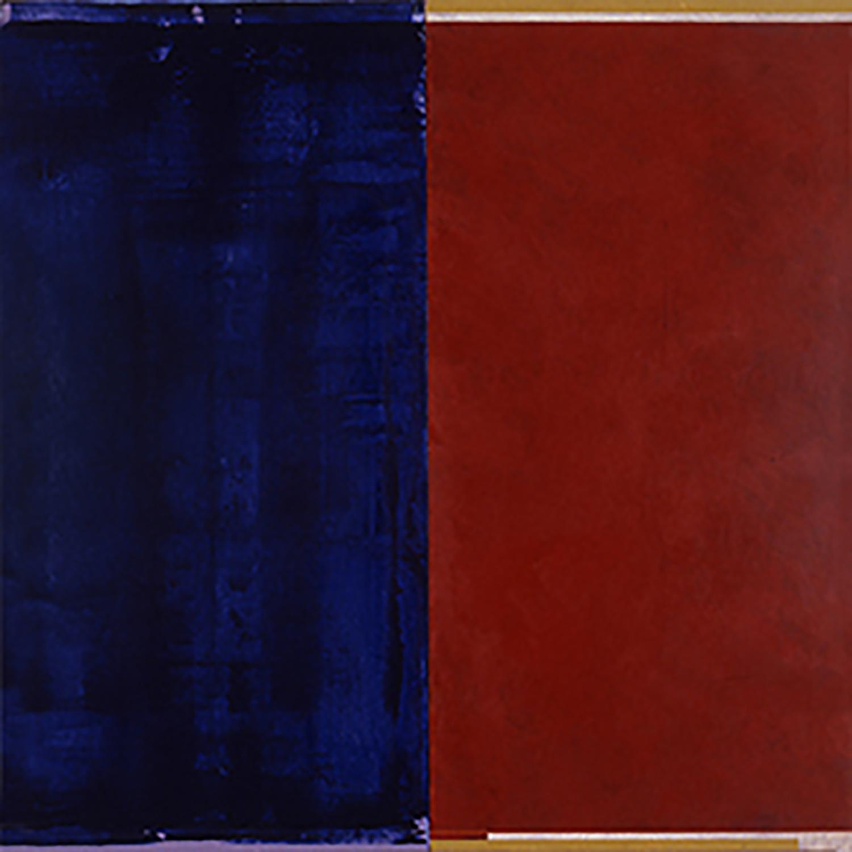 Janus XVII, 1987, Acrylic on canvas over panels, 48 x 48 inches.