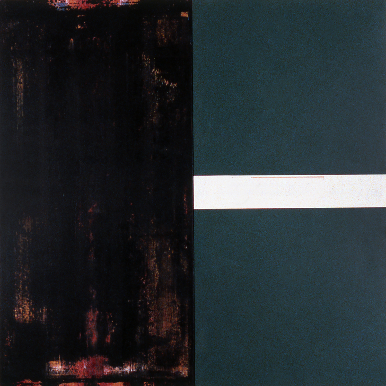 Janus XVIII, 1987, Acrylic on canvas over panels, 48 x 48 inches.