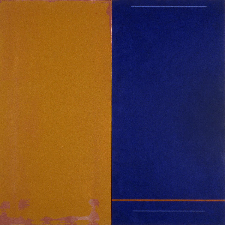 Janus XIX, 1987, Acrylic on canvas over panels, 48 x 48 inches.