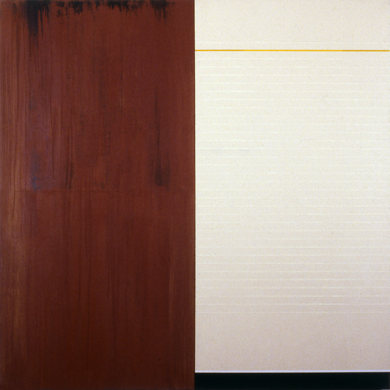 Janus XXV, 1987, Acrylic on canvas over panels, 48 x 48 inches.