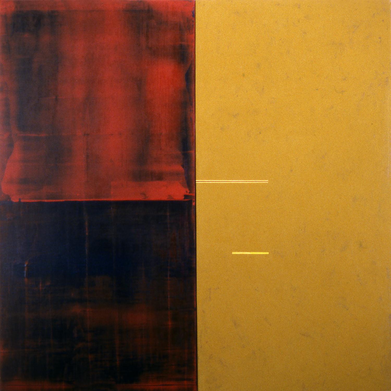 Janus XXVI, 1987, Acrylic on canvas over panels, 48 x 48 inches.