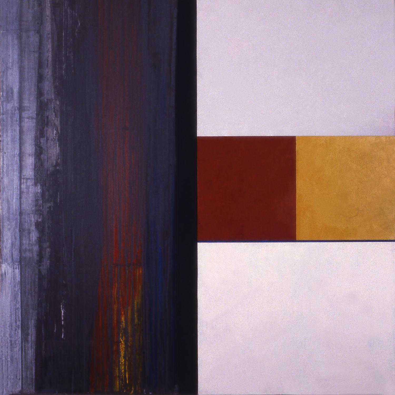 Janus XXIX, 1987, Acrylic on canvas over panels, 48 x 48 inches.