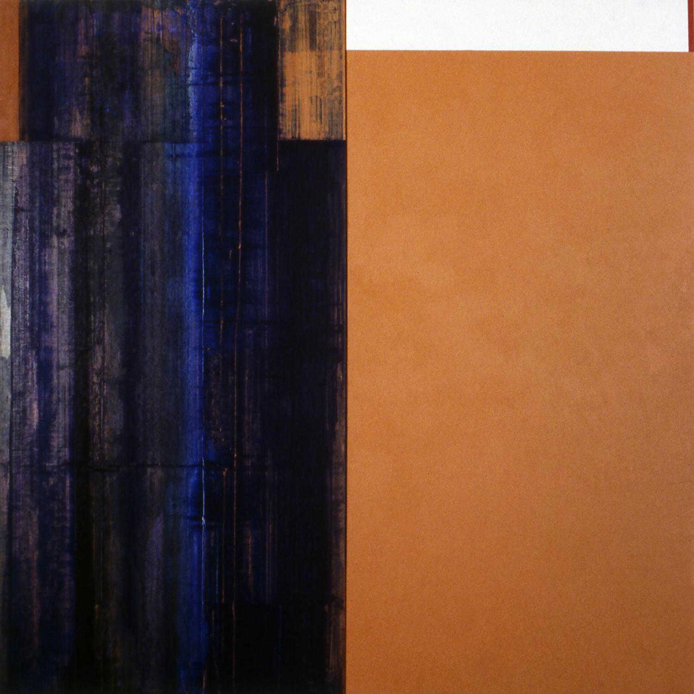 Janus XXX, 1987, Acrylic on canvas over panels, 48 x 48 inches.