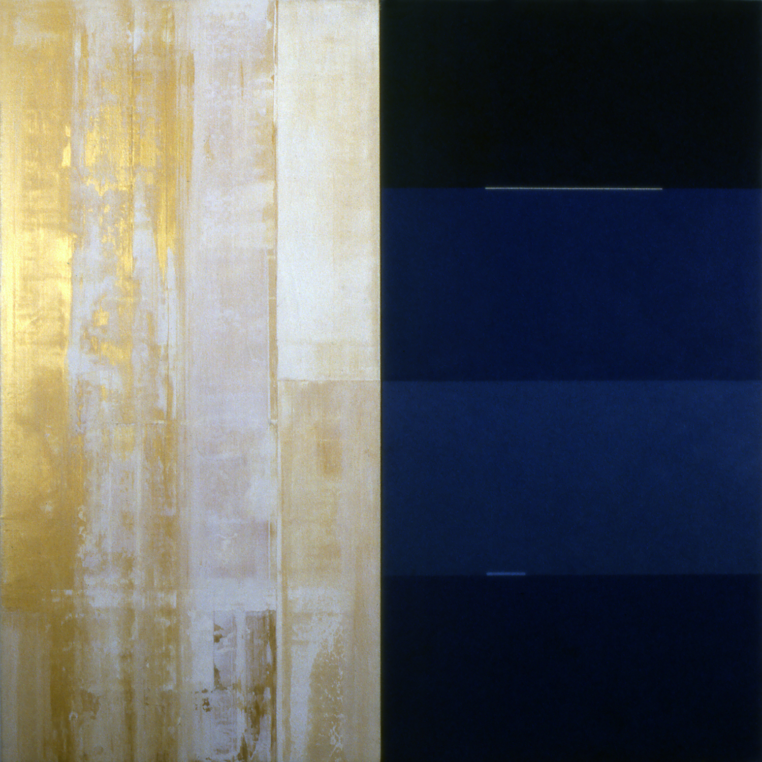 Janus XXXI, 1987, Acrylic on canvas over panels, 48 x 48 inches.