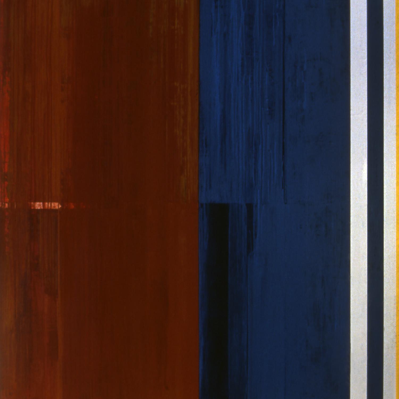 Janus XXXV, 1987, Acrylic on canvas over panels, 72 x 72 inches.