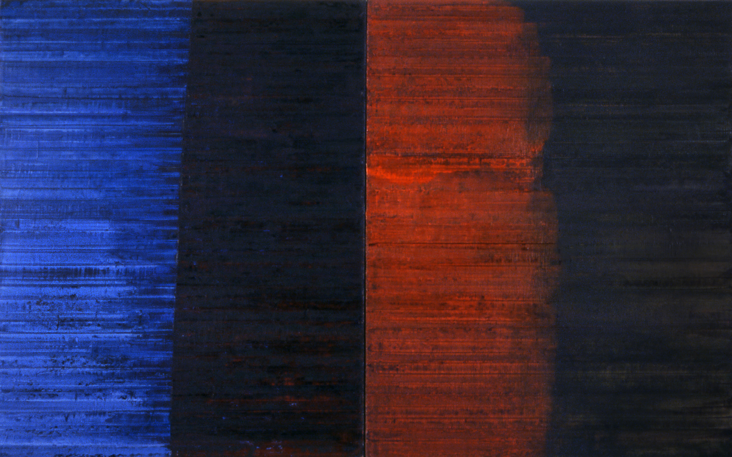 Linea Terminale: 1.06, 2006, Oil on linen over panels, 20 x 36 inches.