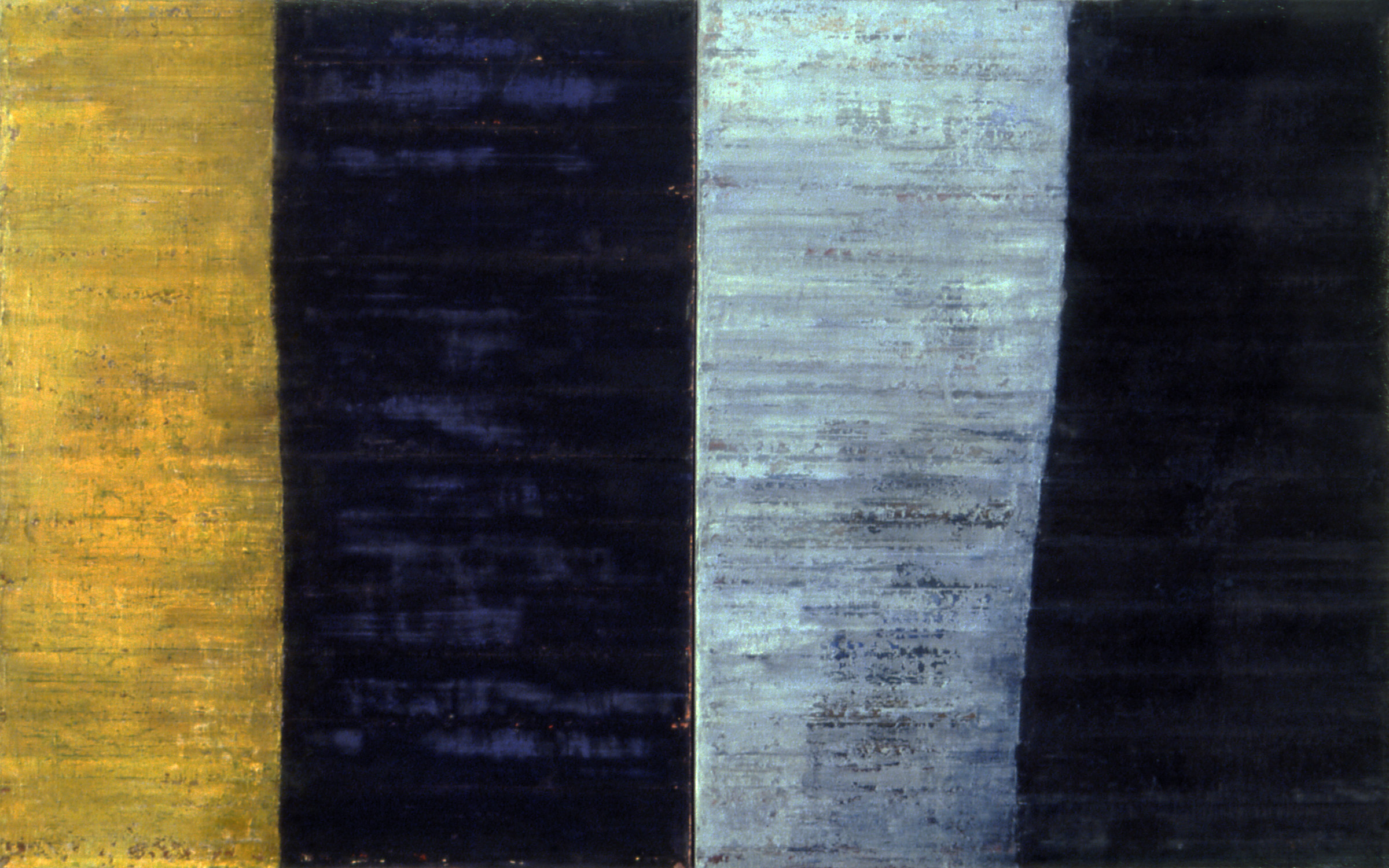 Linea Terminale: 3.06, 2006, Oil on linen over panels, 20 x 36 inches.