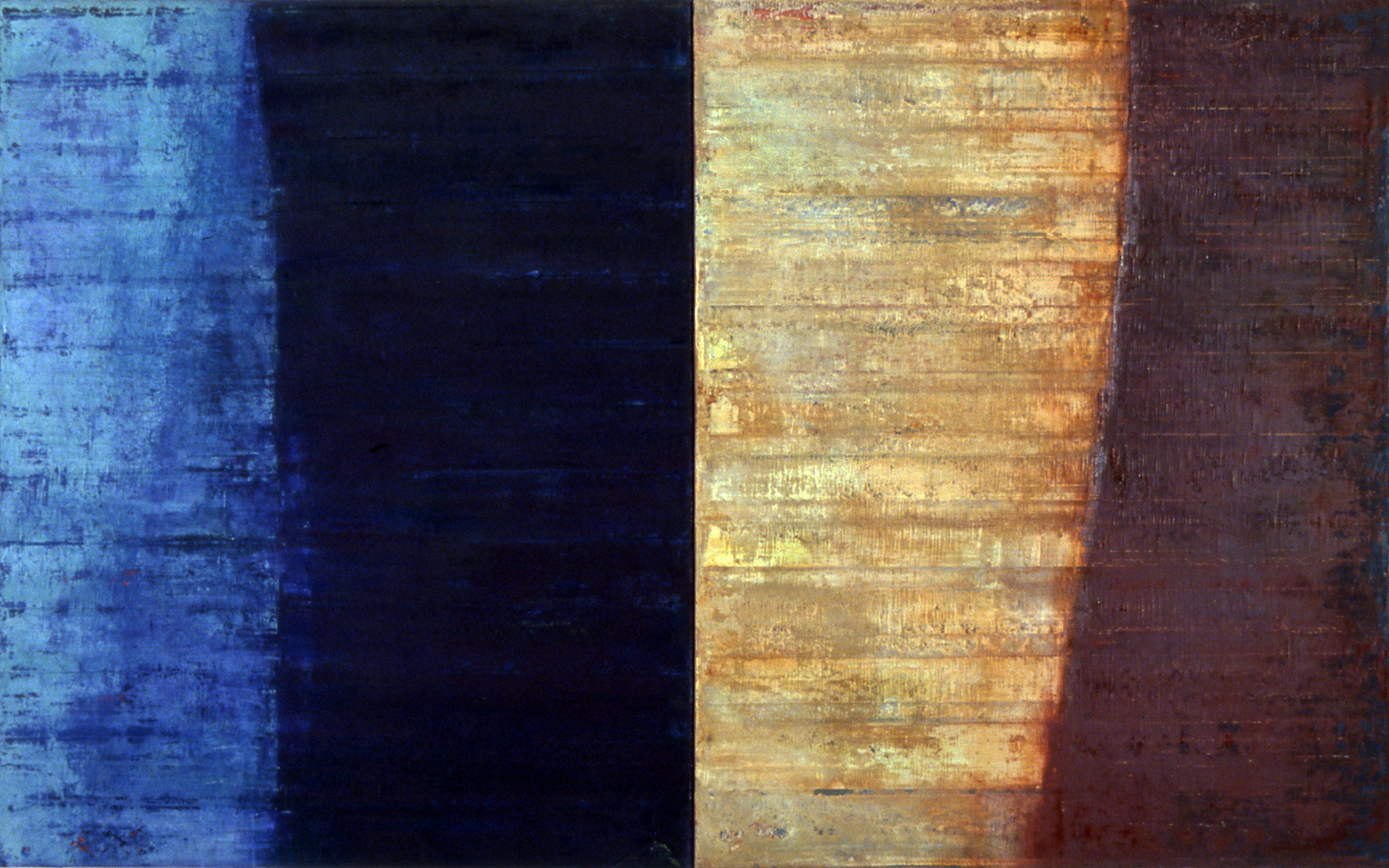 Linea Terminale: 4.07, 2007, Oil on linen over panels, 20 x 36 inches.
