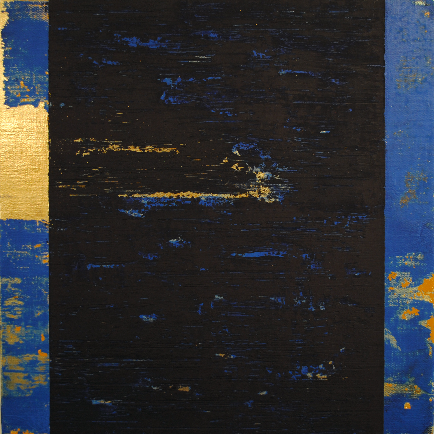 Kind of Blue I, 2015, Oil, acrylic on linen, 16 x 16 inches.