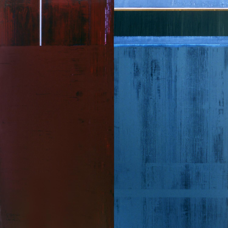 Janus XXXVI, 1987, Acrylic, on canvas over panels, 72 x 72 inches.