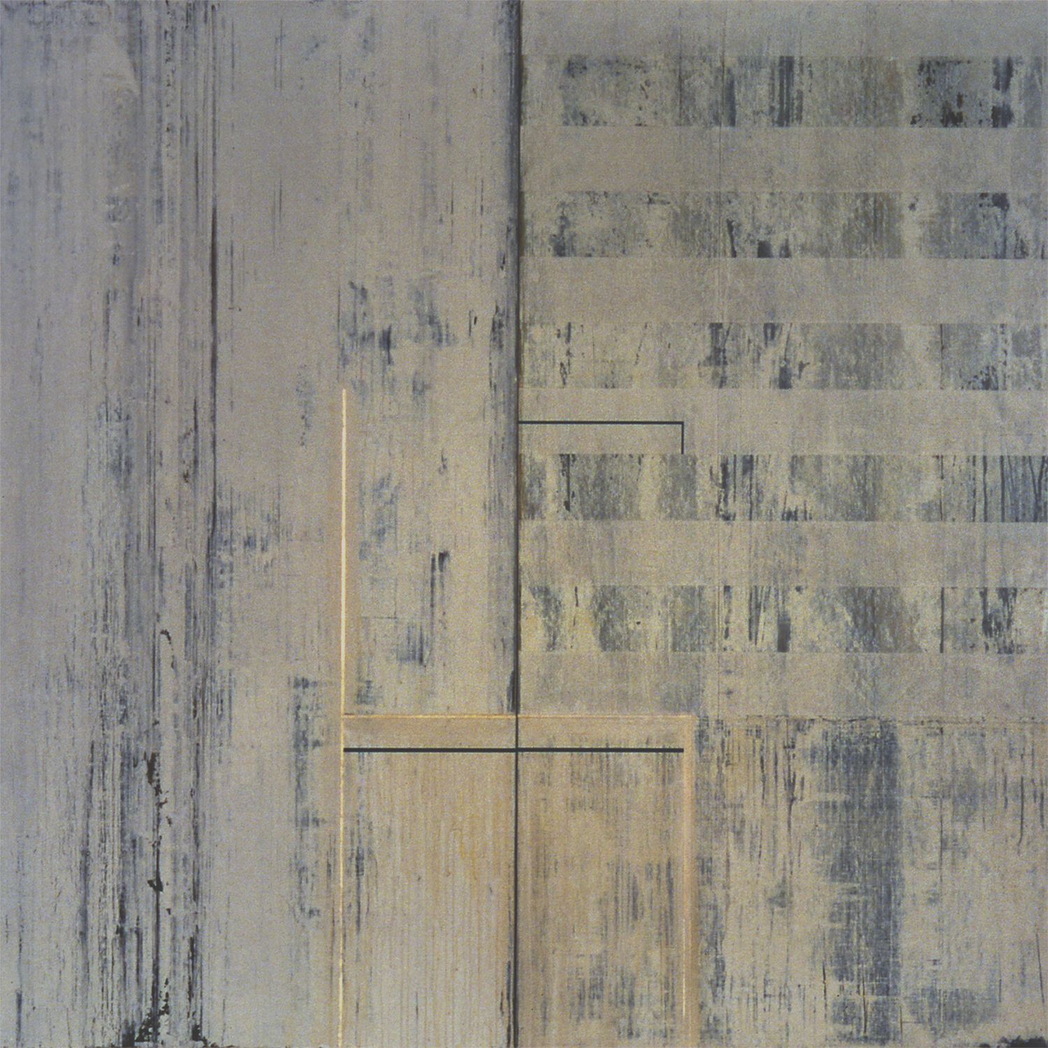 Divided Square 46, 1988, Acrylic on canvas over panels, 72 x 72 inches.