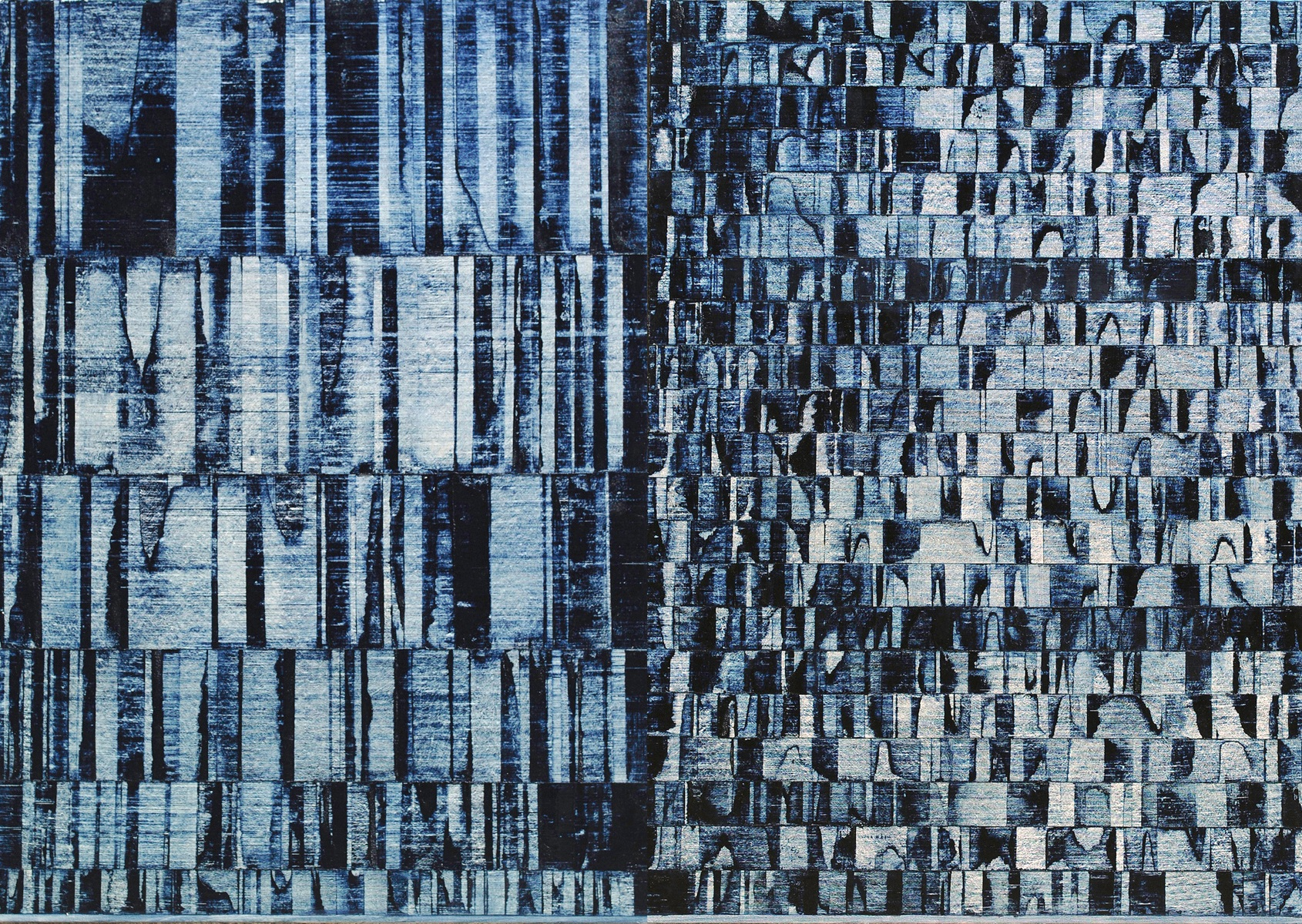 ISIS 26: Grid Skid, 2013, Oil, acrylic on linen over panels, 42.5 x 60 inches.