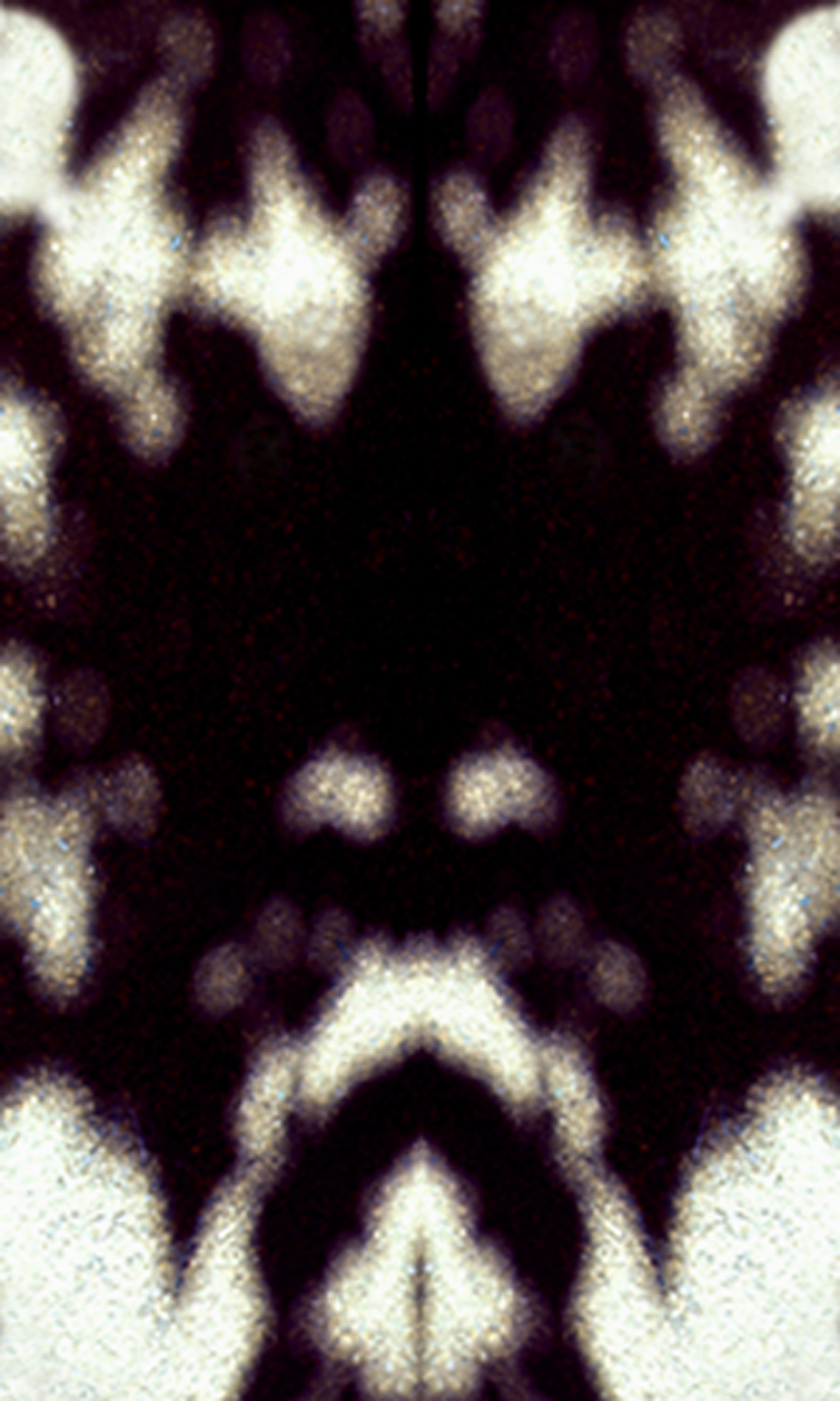 Rorschack Shadow Trilogy: Mask, 2003, Screen print, 21.5 x 35.75 inches.
