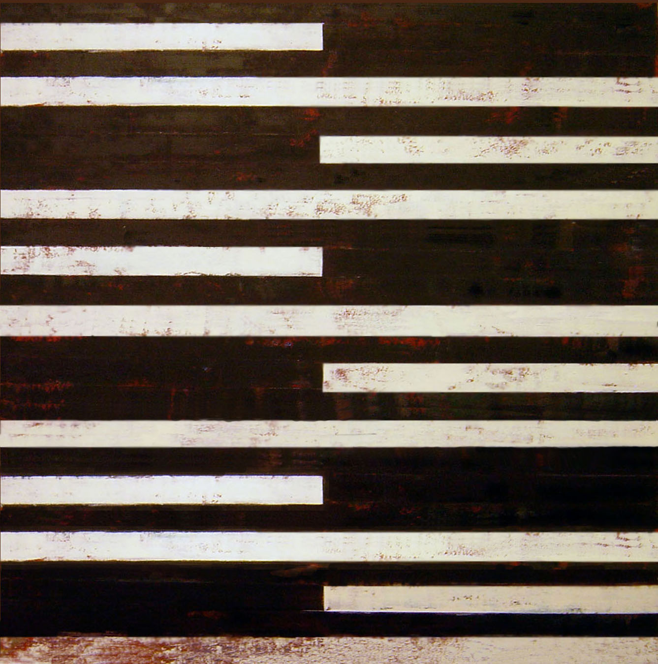 ISIS 9: 2008, Oil, acrylic on canvas over panel, 48 x 48 inches.