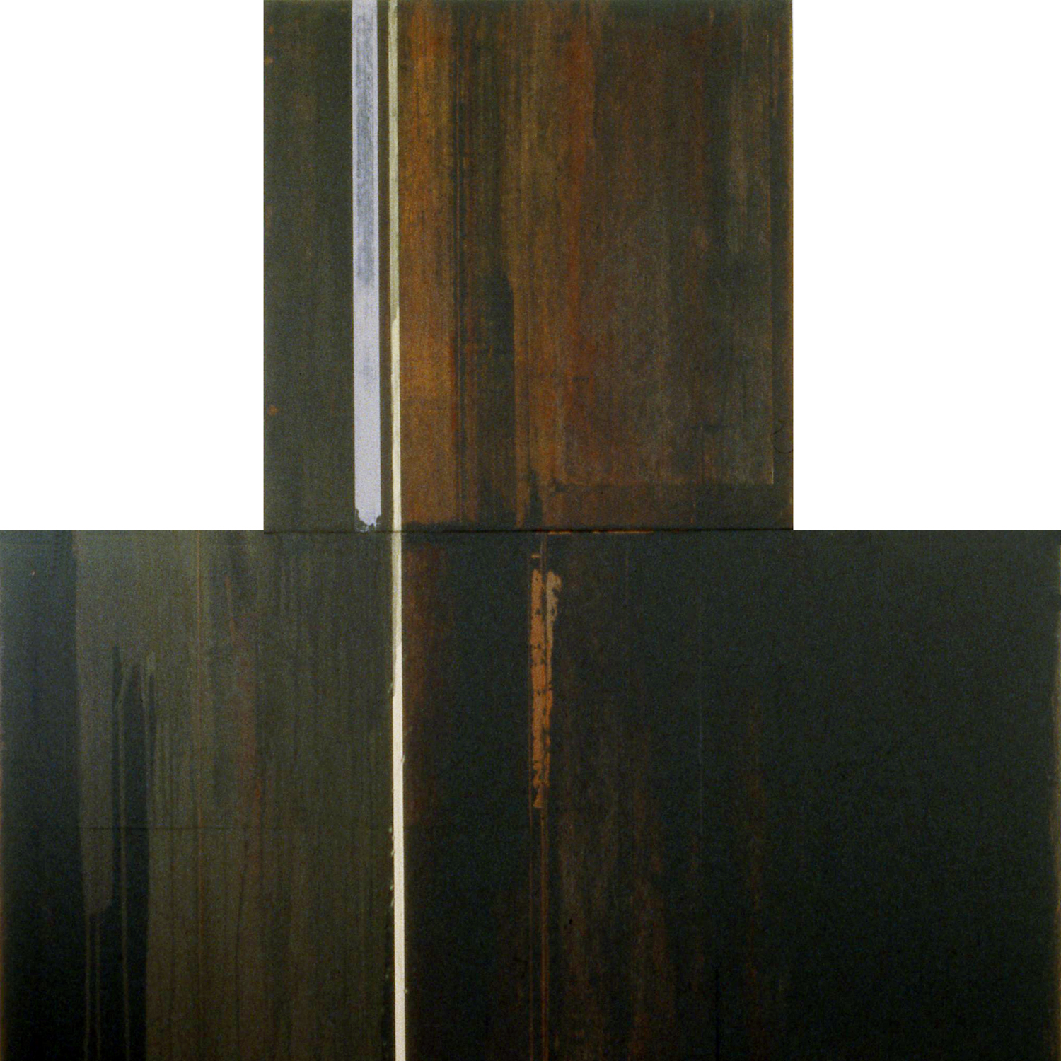 Divided Square 51, 1989, Acrylic on canvas over panels, 48 x 48 inches.