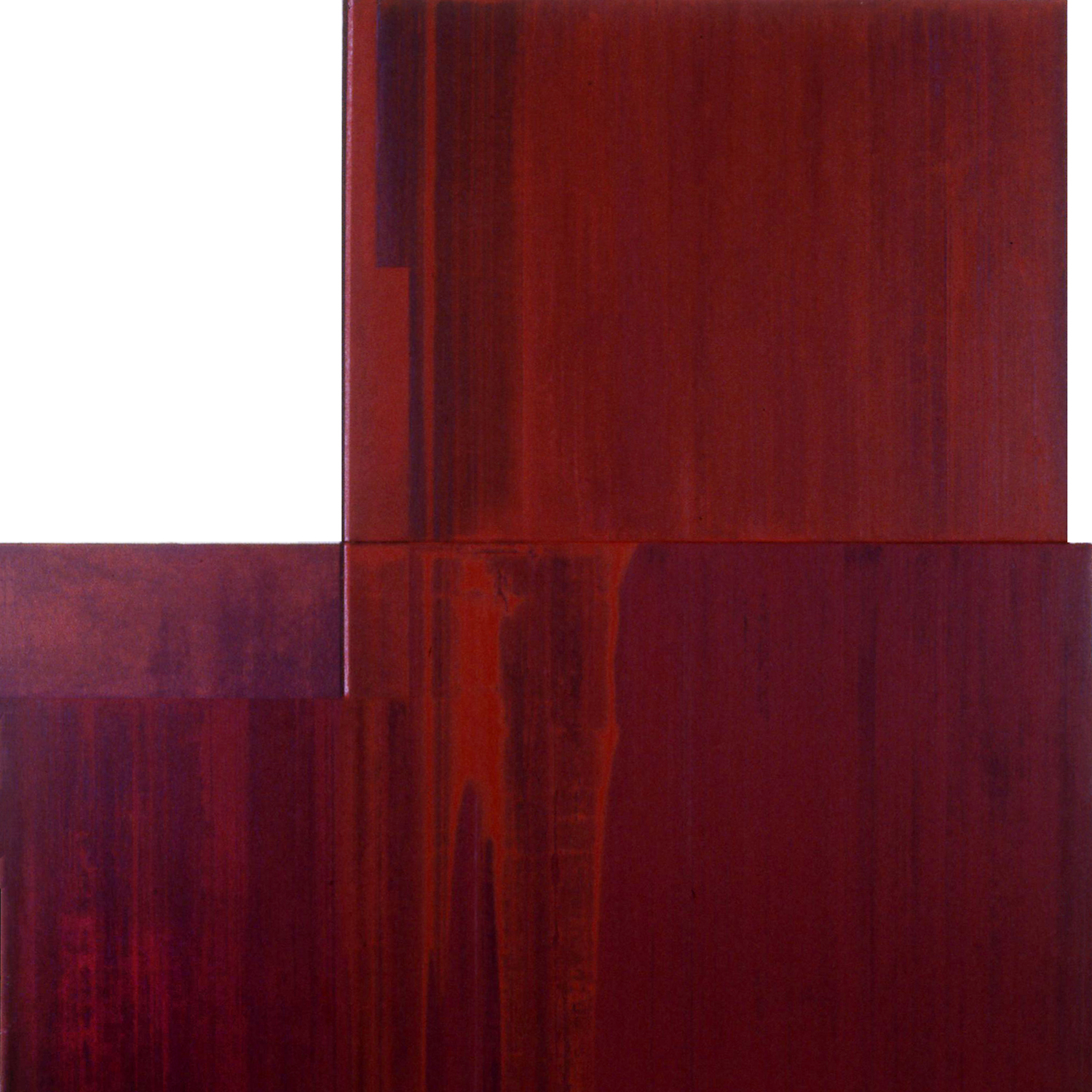 Divided Square 52, 1989, Acrylic on canvas over panels, 48 x 48 inches.
